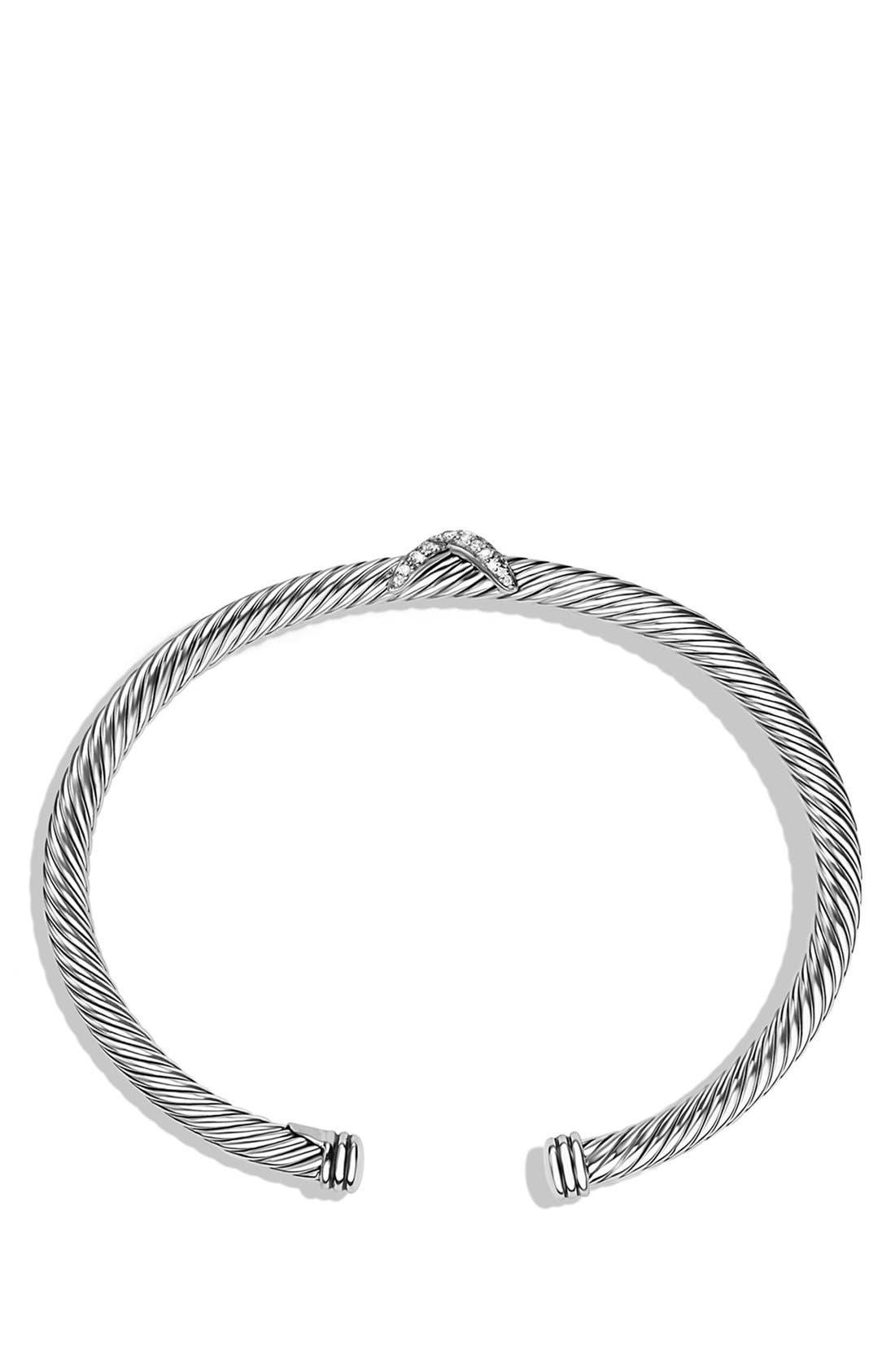'X' Bracelet with Diamonds,                             Alternate thumbnail 2, color,                             Diamond