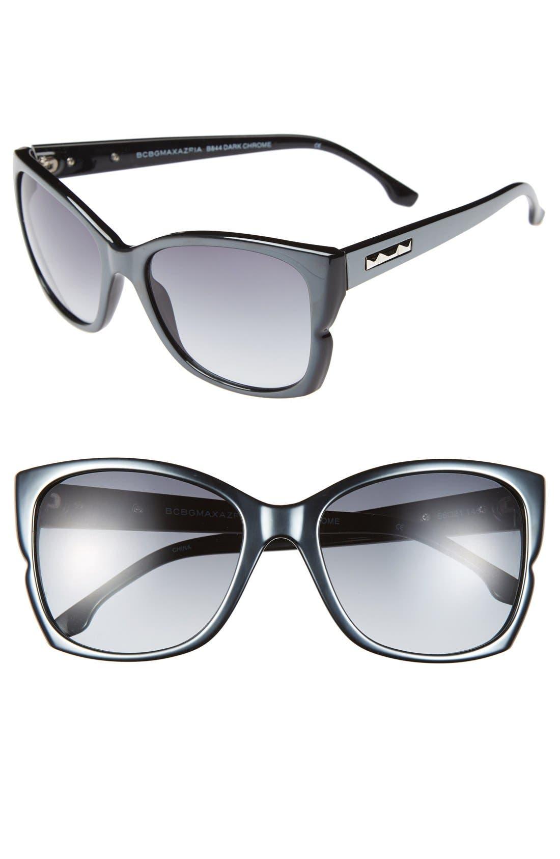 Main Image - BCBGMAXAZRIA 56mm Butterfly Sunglasses