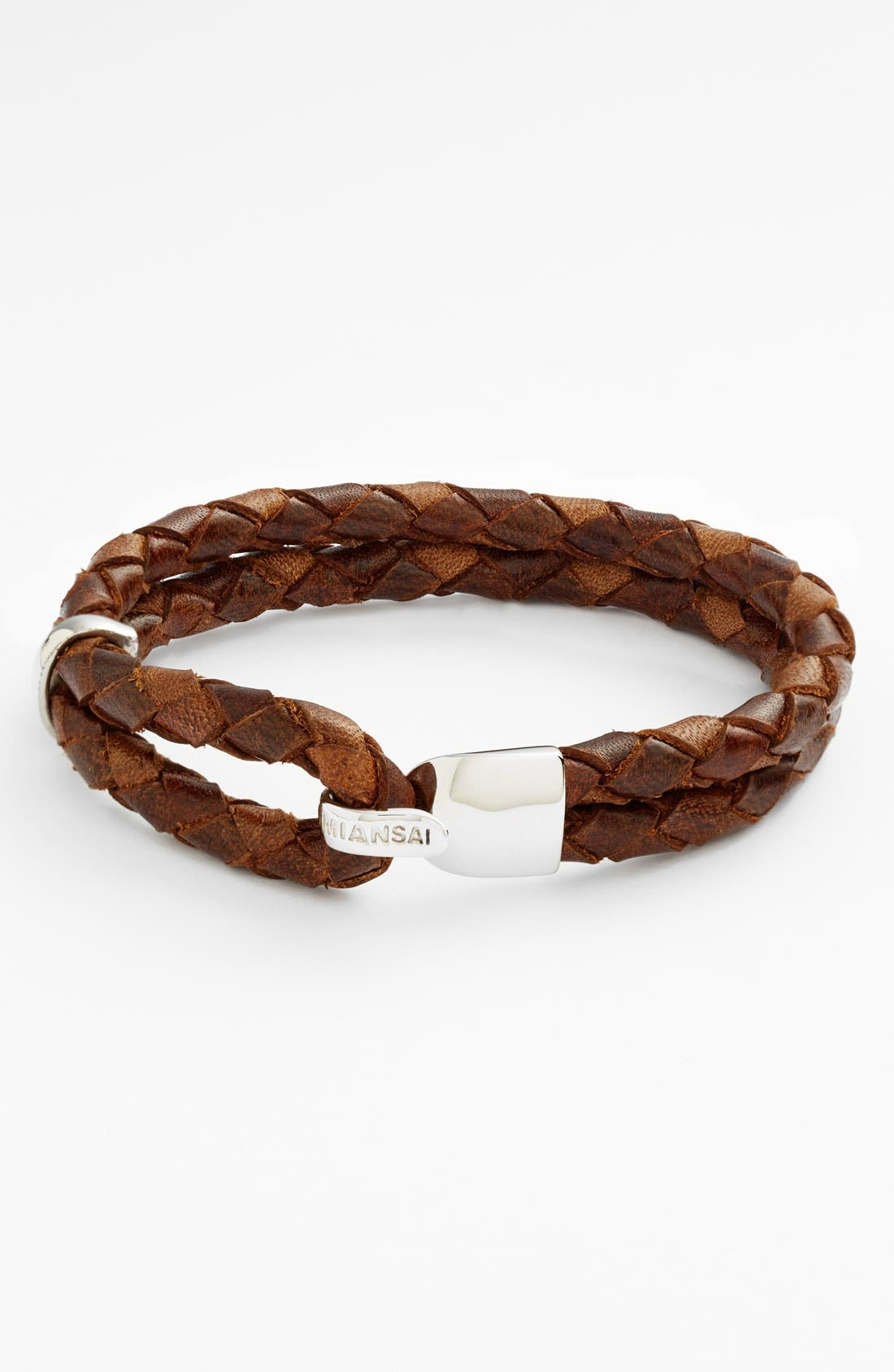 Miansai 'Beacon' Braided Leather Bracelet