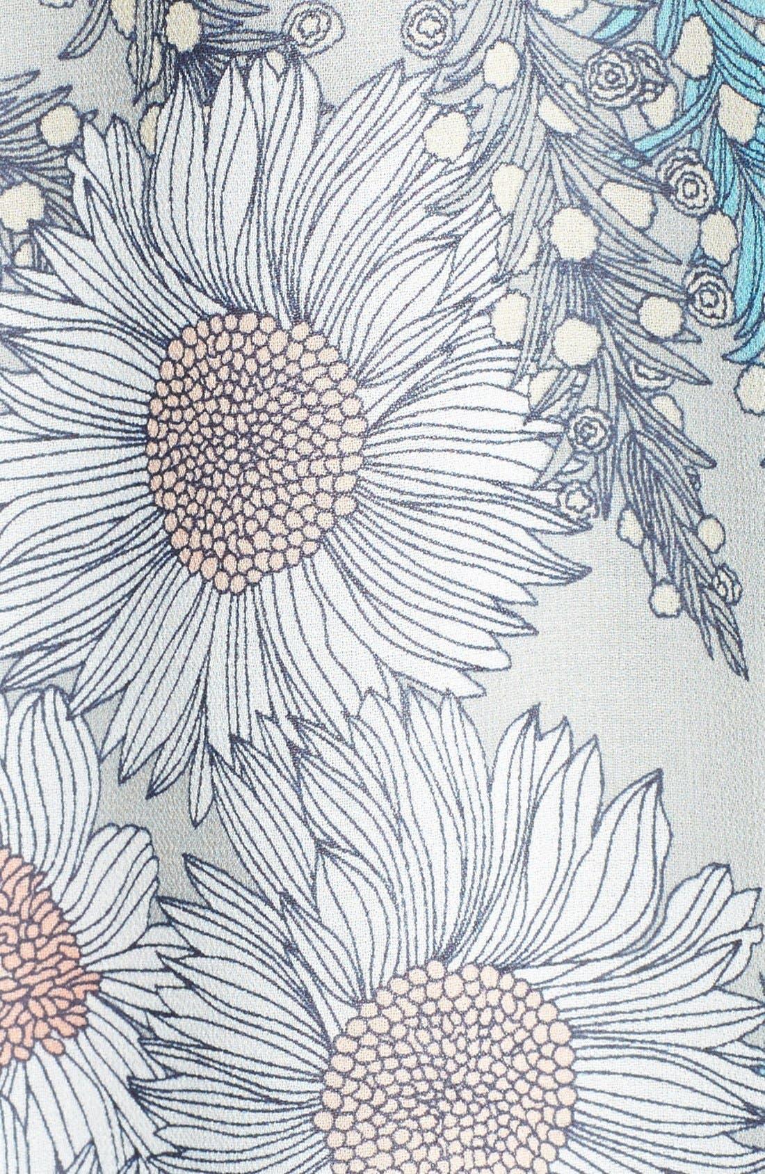 Alternate Image 3  - ASTR Floral Print High Rise Midi Skirt