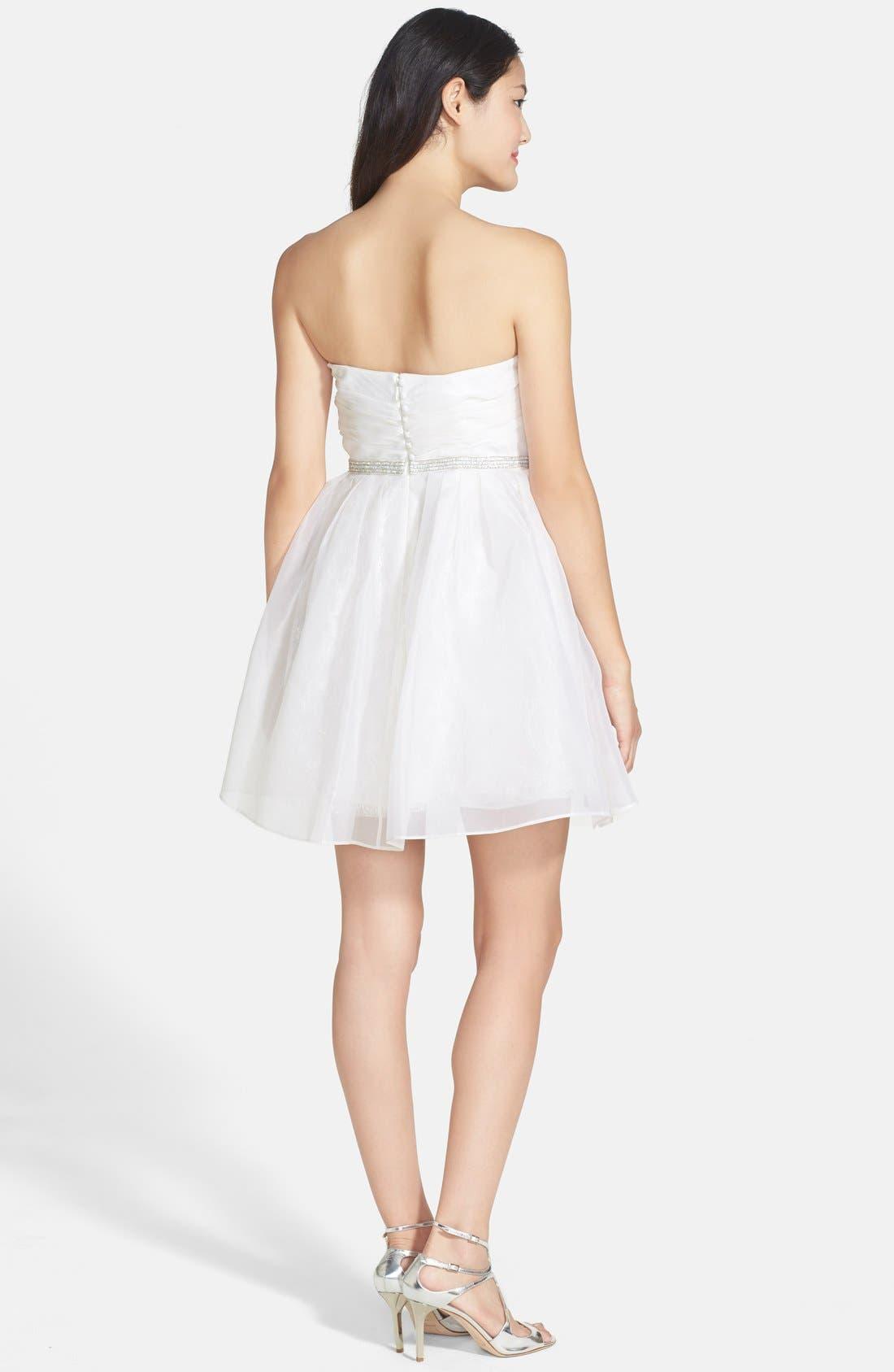 Alternate Image 2  - Ali Ro Strapless Organza & Lace Dress