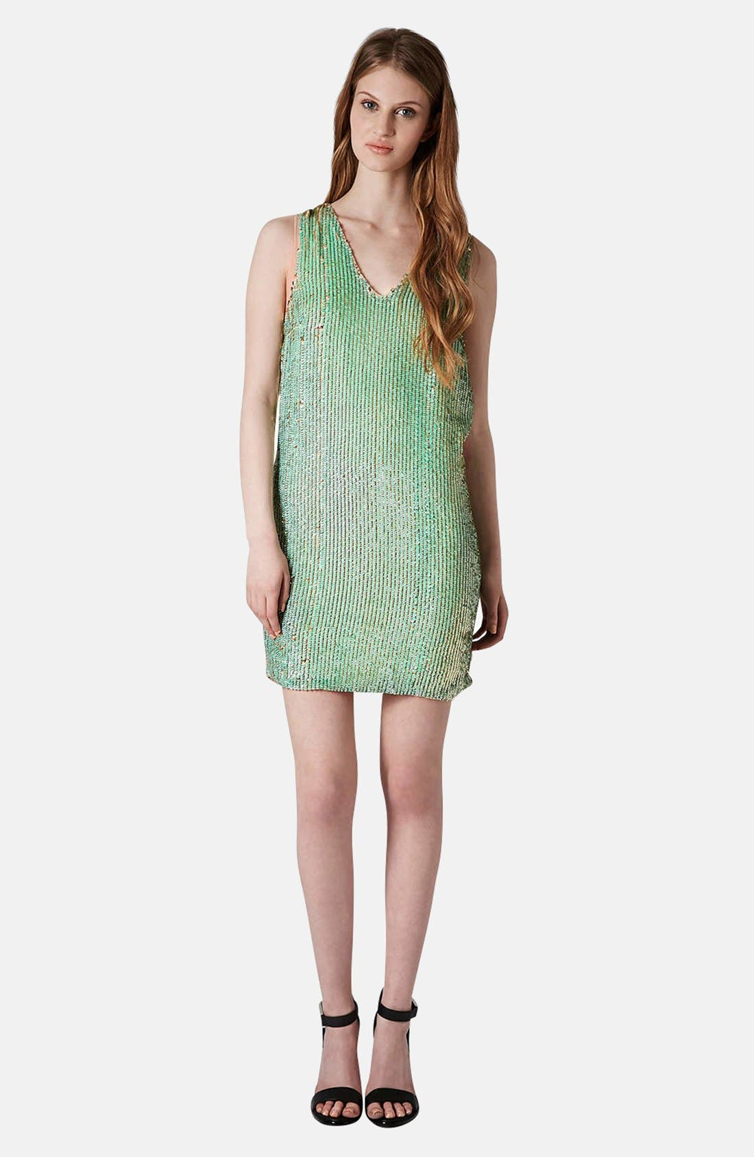 Alternate Image 5  - Topshop Sequin Shift Dress