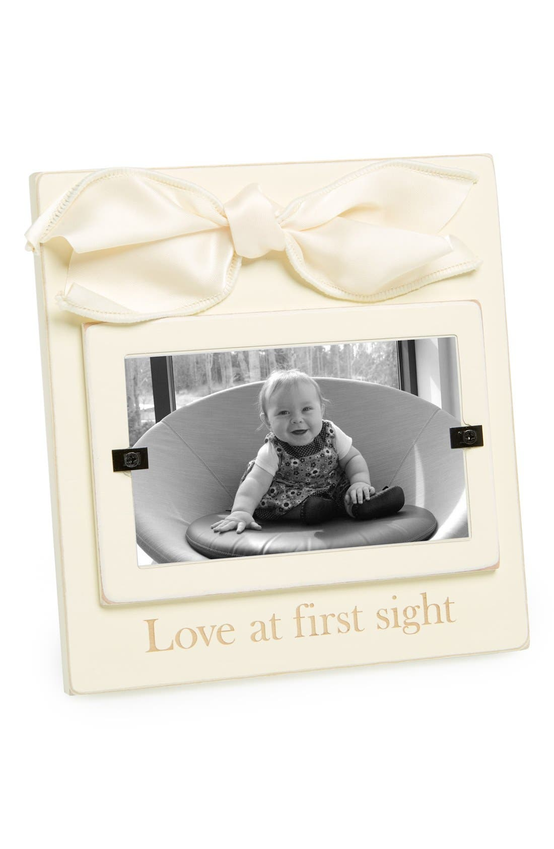Alternate Image 1 Selected - Mud Pie 'Love At First Sight' Wooden Picture Frame (3x5)