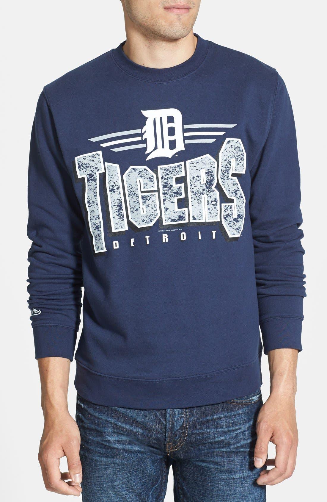 Alternate Image 1 Selected - Mitchell & Ness 'Detroit Tigers' Crewneck Sweatshirt