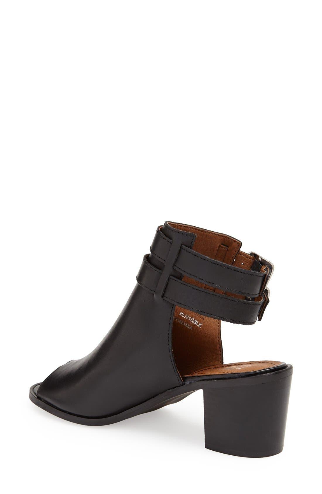 'Jolie' Bootie Sandal,                             Alternate thumbnail 2, color,                             Black