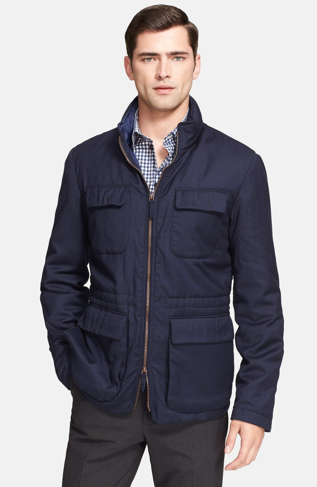 Alternate Image 1 Selected - Armani Collezioni Quilt Lined Field Jacket