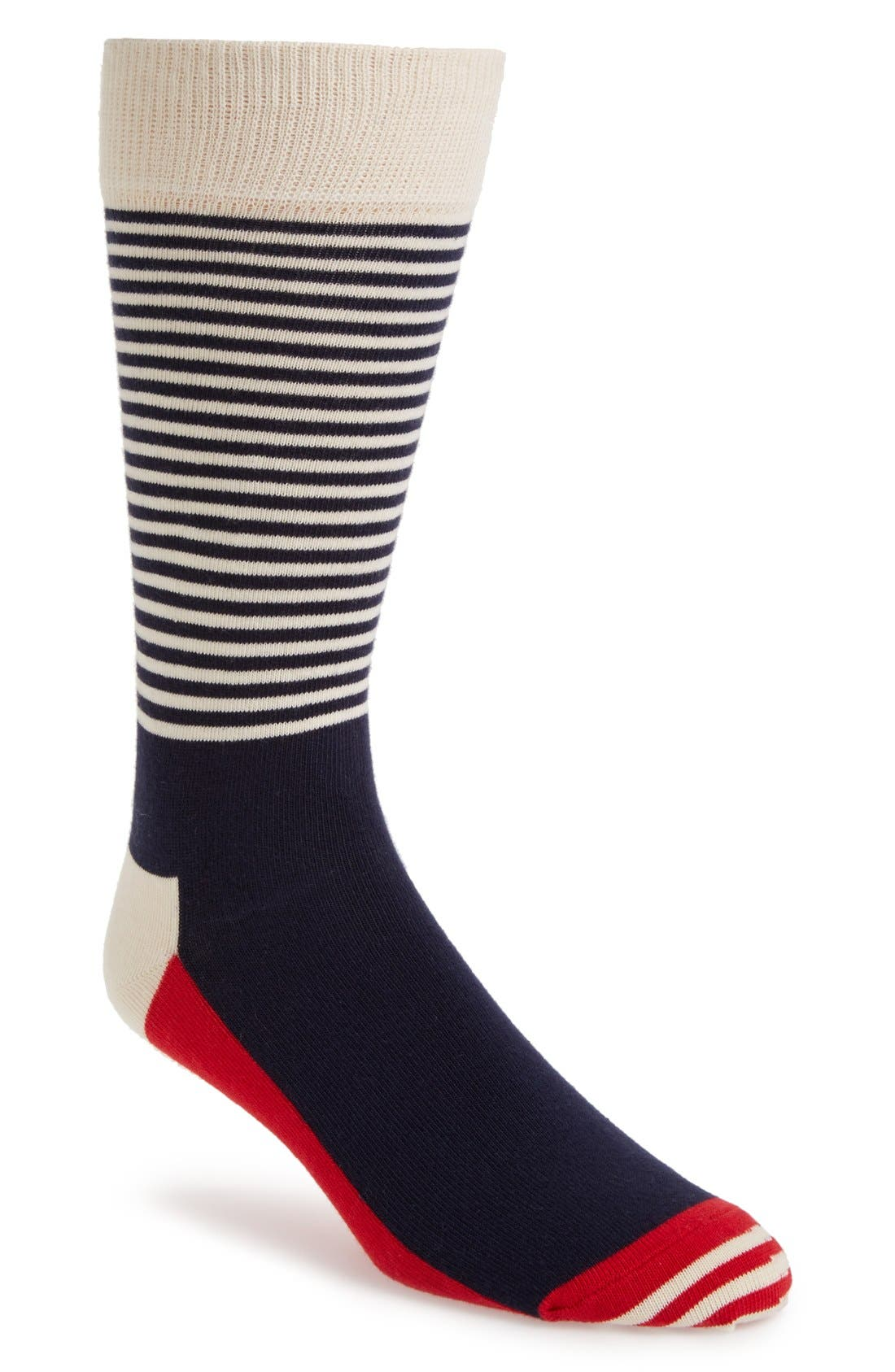 Happy Socks Stripe Colorblock Socks (3 for $30)