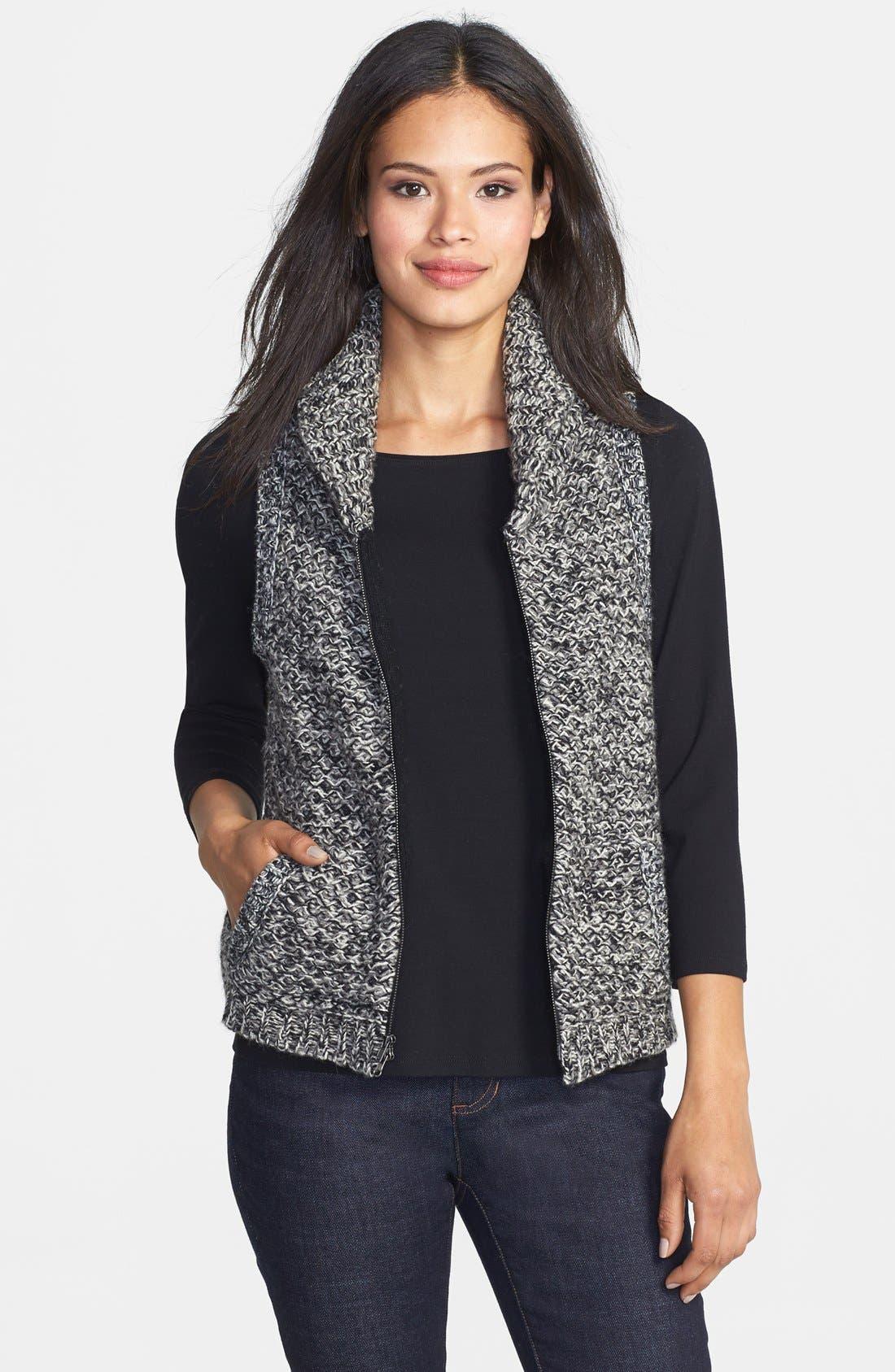 Alternate Image 1 Selected - Eileen Fisher Merino & Yak Wool Sweater Vest (Regular & Petite)
