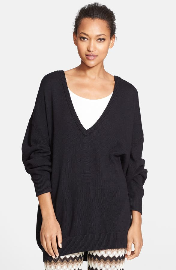 Trina Turk 'Ostin' Oversized Hooded V-Neck Sweater | Nordstrom