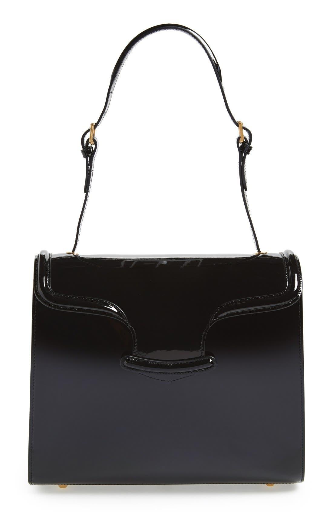 Alternate Image 1 Selected - Alexander McQueen 'Heroine' Patent Leather Shoulder Bag