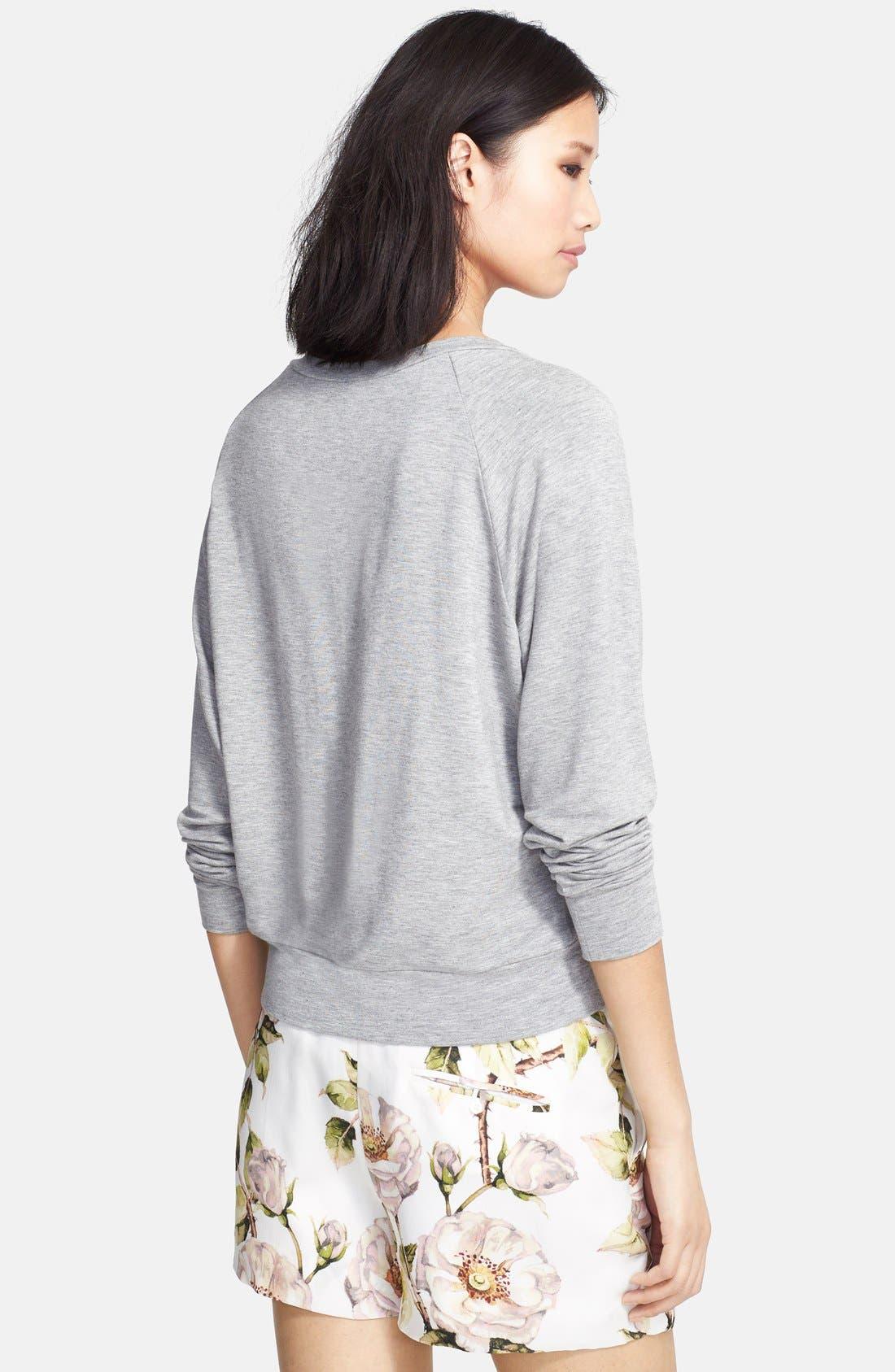 Alternate Image 2  - Haute Hippie 'Lover' Floral Print Sweatshirt