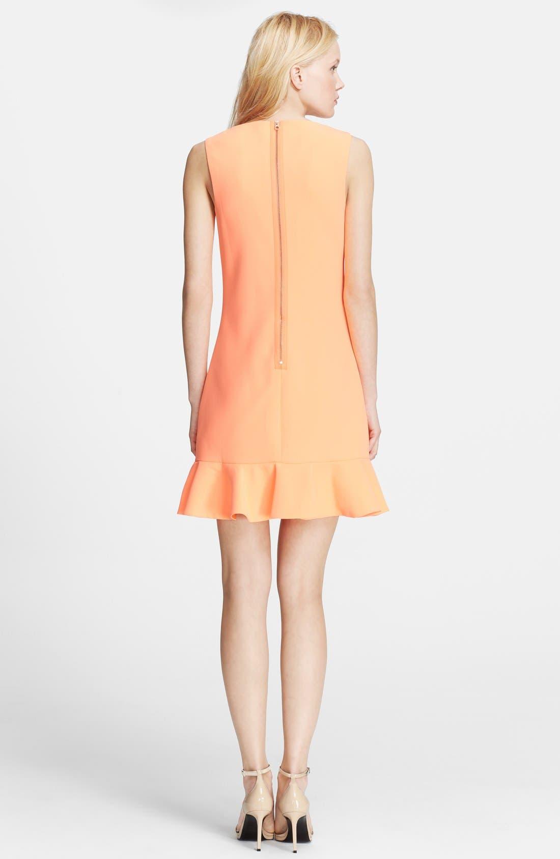 'Omelia' Ruffle Hem Stretch Sheath Dress,                             Alternate thumbnail 2, color,                             Light Orange