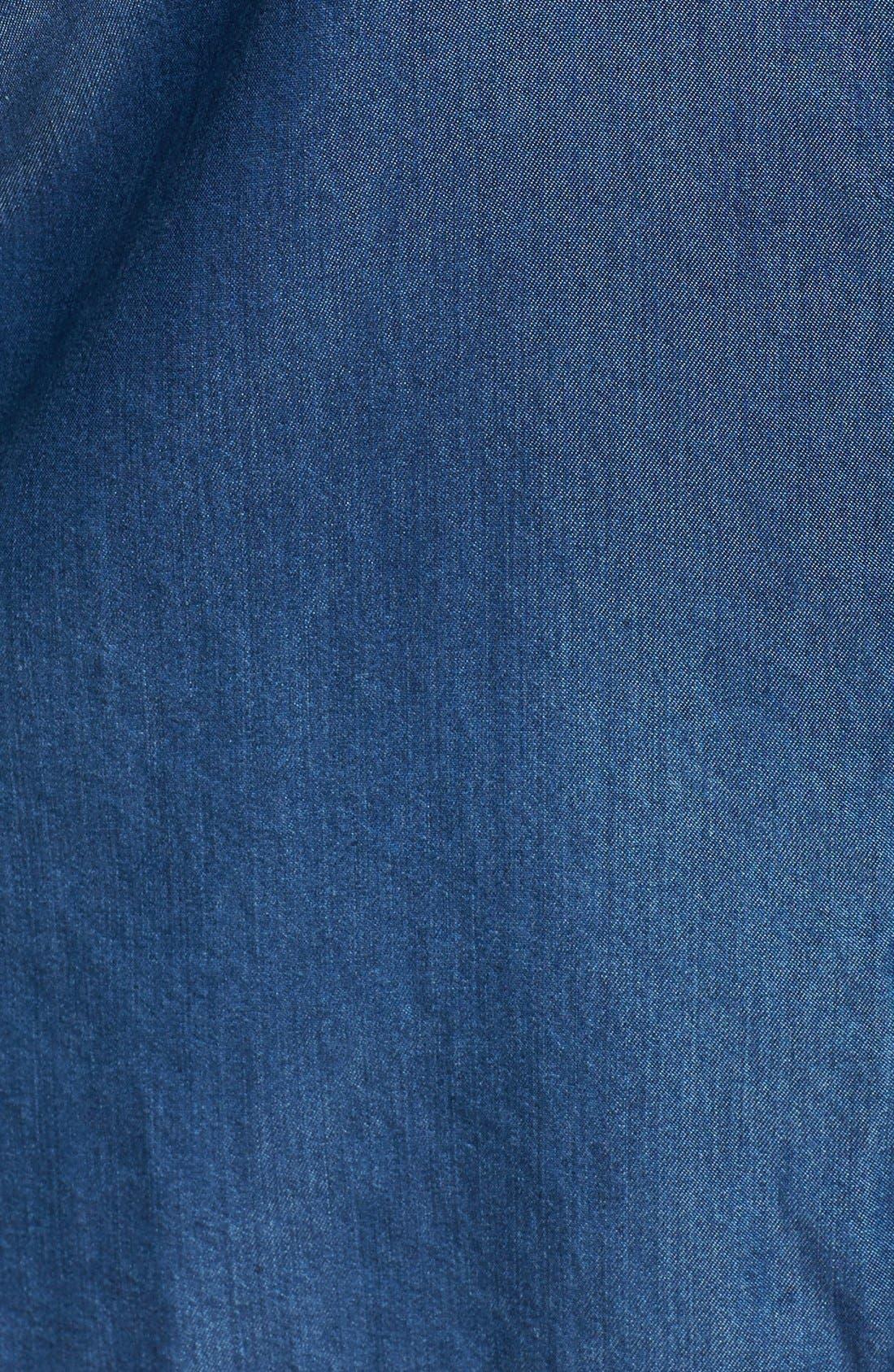 Alternate Image 3  - Sejour Tencel® Chambray Shirt (Plus Size)