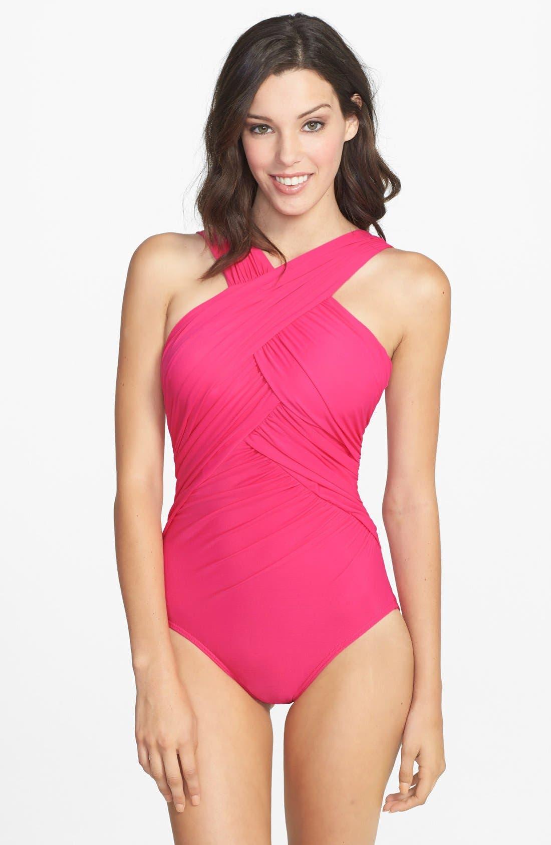 Main Image - Miraclesuit® Crisscross One-Piece Swimsuit