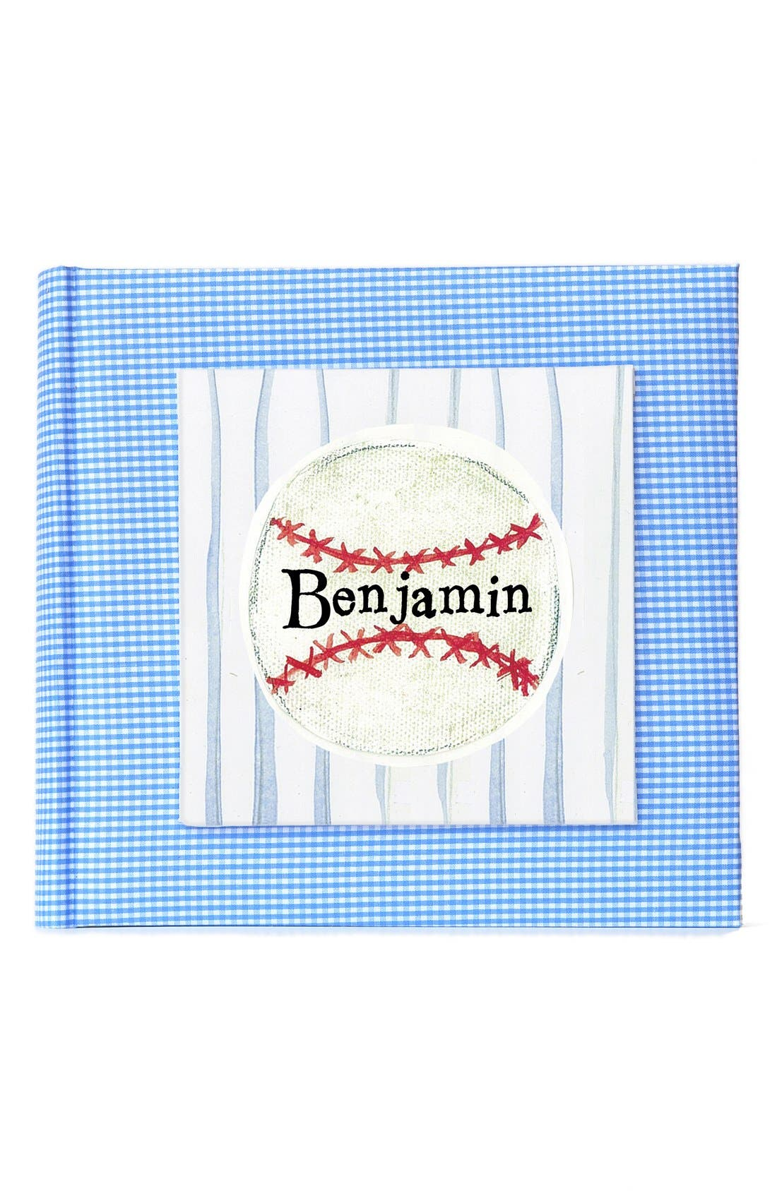 'Baseball' Personalized Photo Album,                             Main thumbnail 1, color,                             Blue