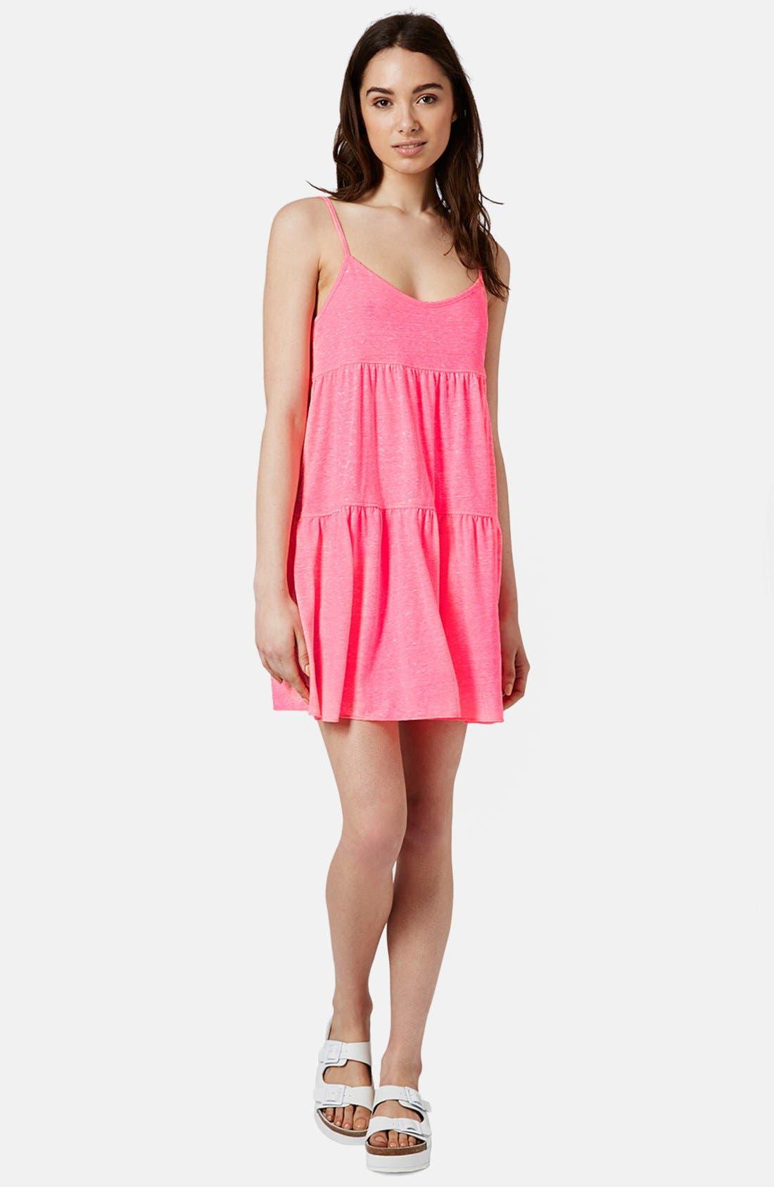 Alternate Image 5  - Topshop Tiered Slub Knit Dress
