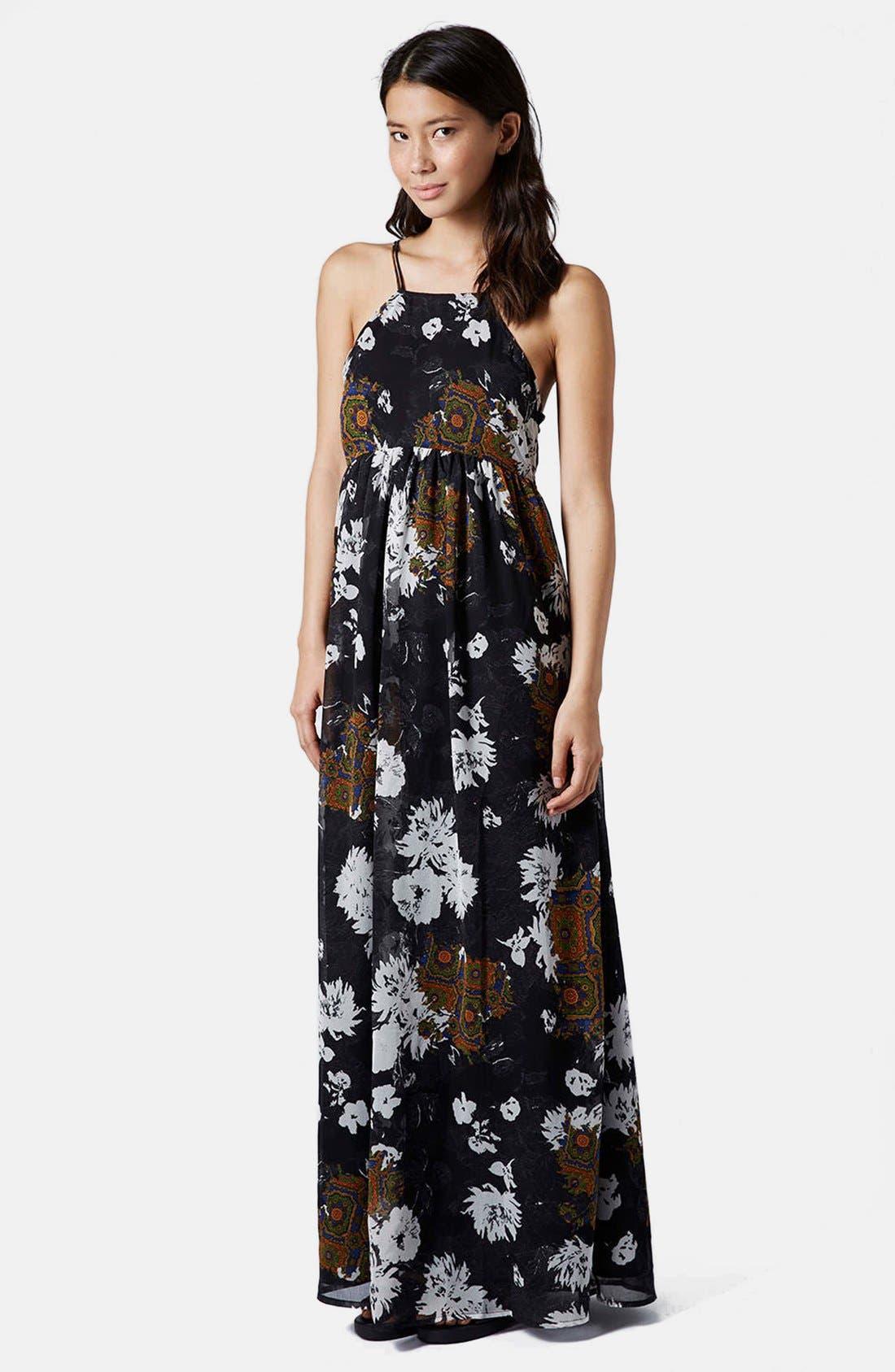 Alternate Image 1 Selected - Topshop Folk Print Maxi Dress