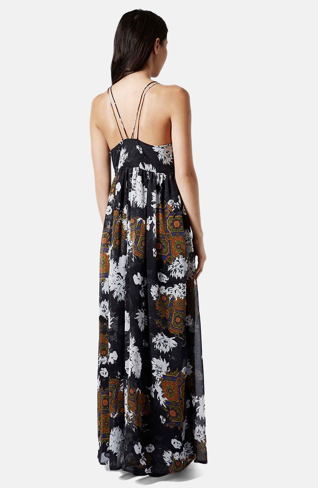 Alternate Image 2  - Topshop Folk Print Maxi Dress