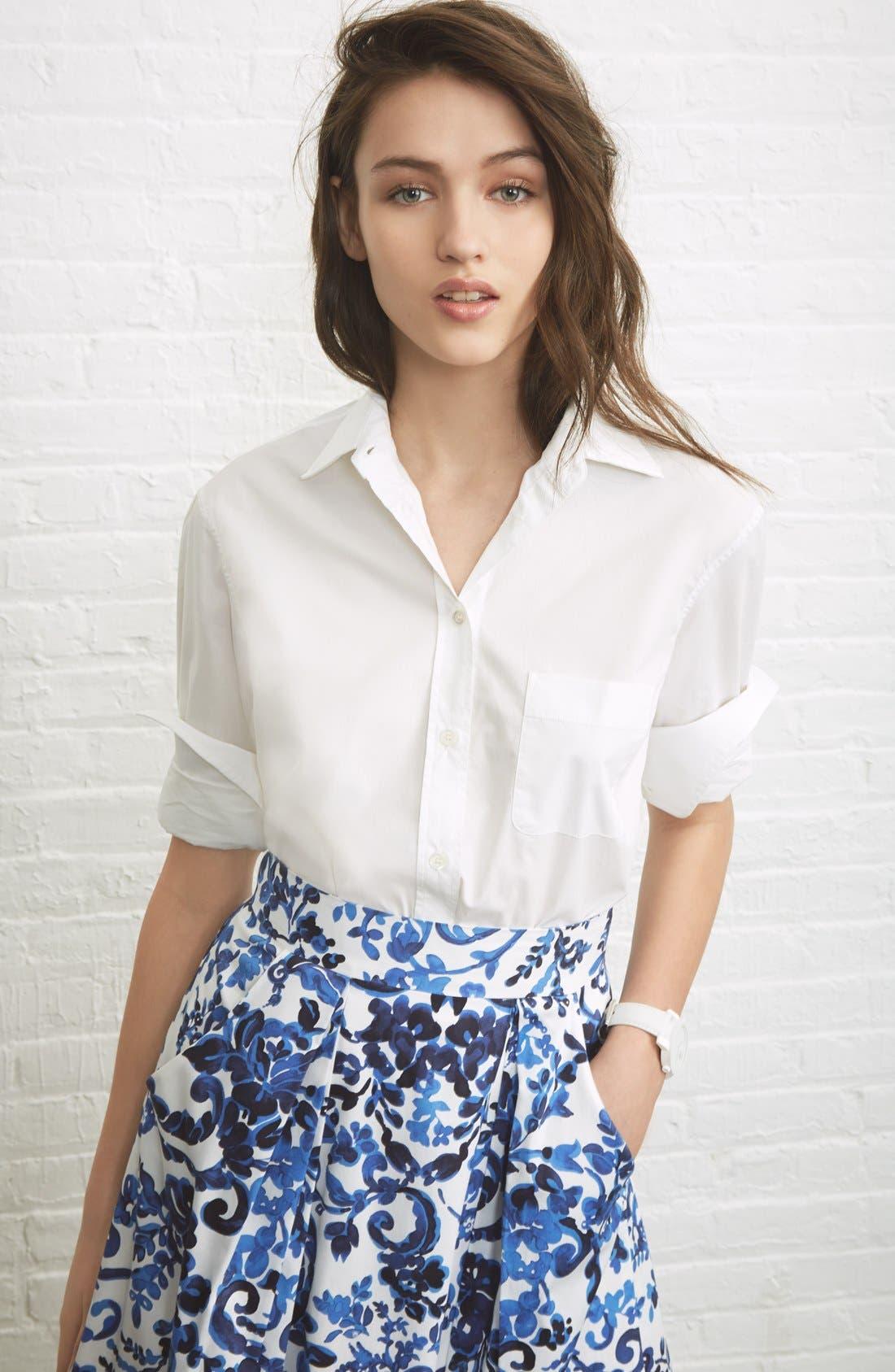 Alternate Image 6  - Milly 'Katie' Print Flare Skirt