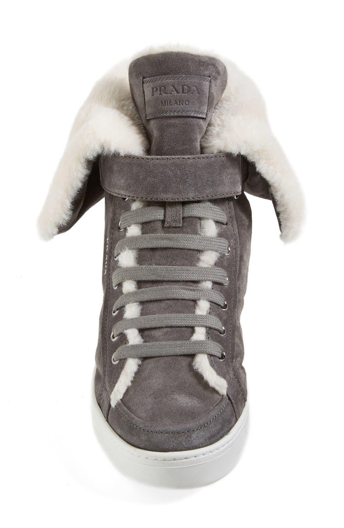 Alternate Image 3  - Prada Faux Shearling Sneaker (Women)