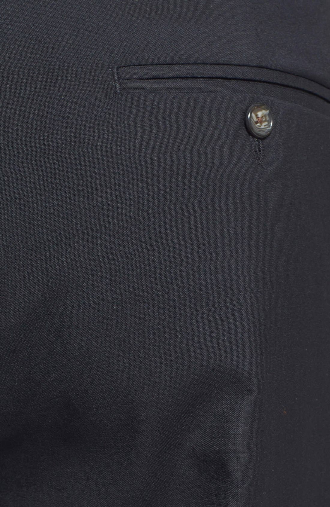 Self Sizer Waist Pleated Trousers,                             Alternate thumbnail 2, color,                             Black