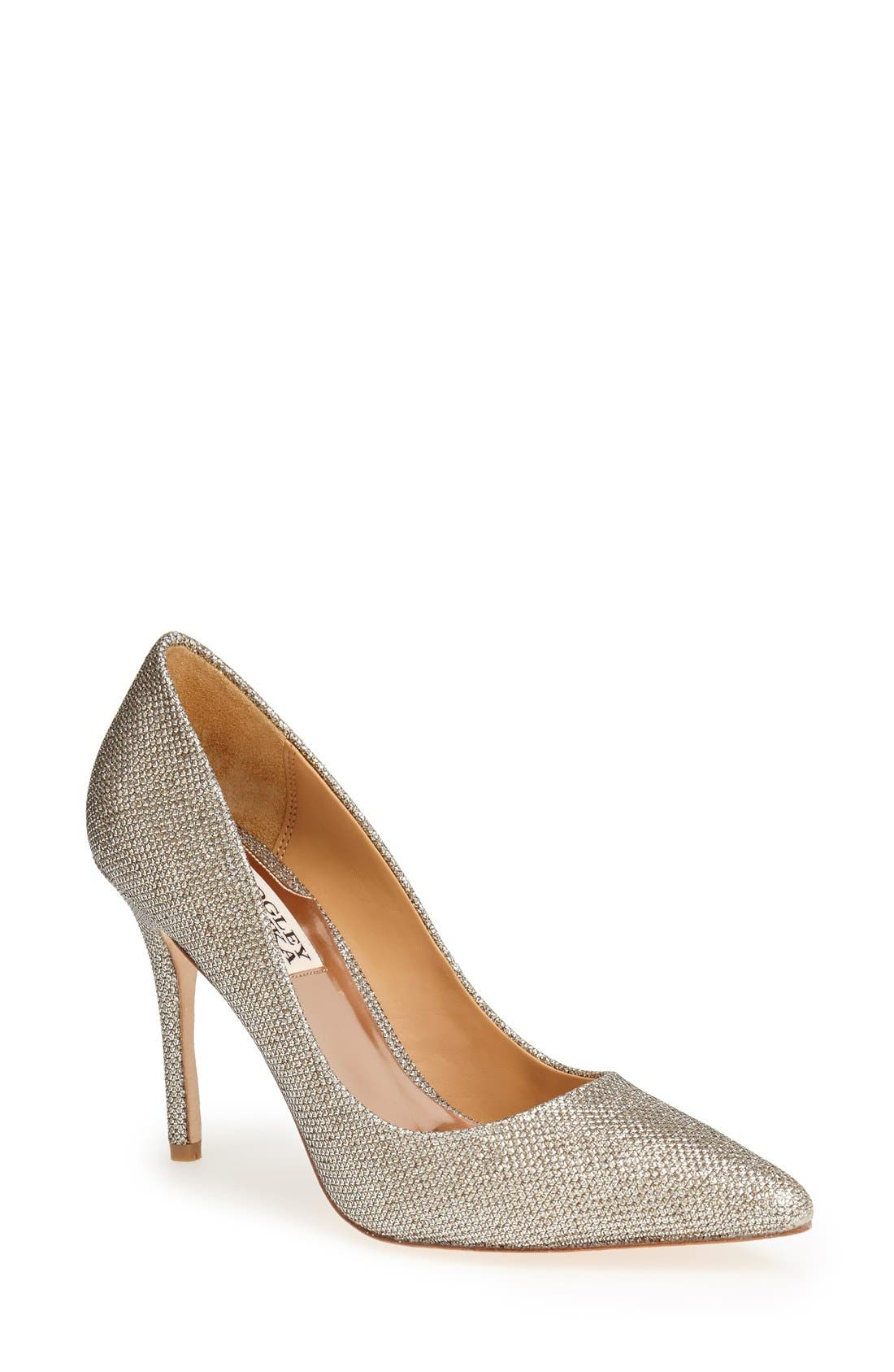 Alternate Image 1 Selected - Badgley Mischka 'Luster' Pointy Toe Pump (Women)