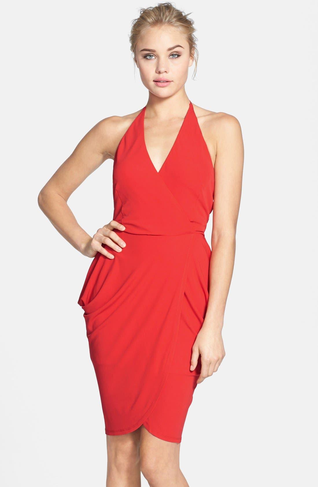 Alternate Image 1 Selected - Alexia Admor Tulip Hem Halter Dress