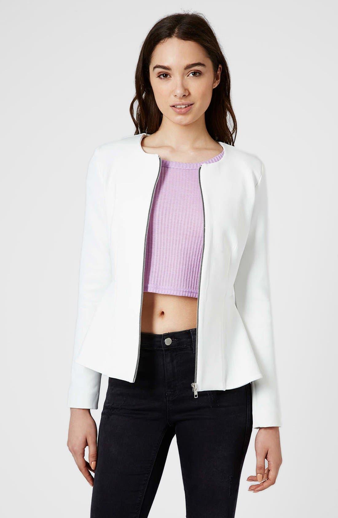 Main Image - Topshop Tailored Peplum Jacket