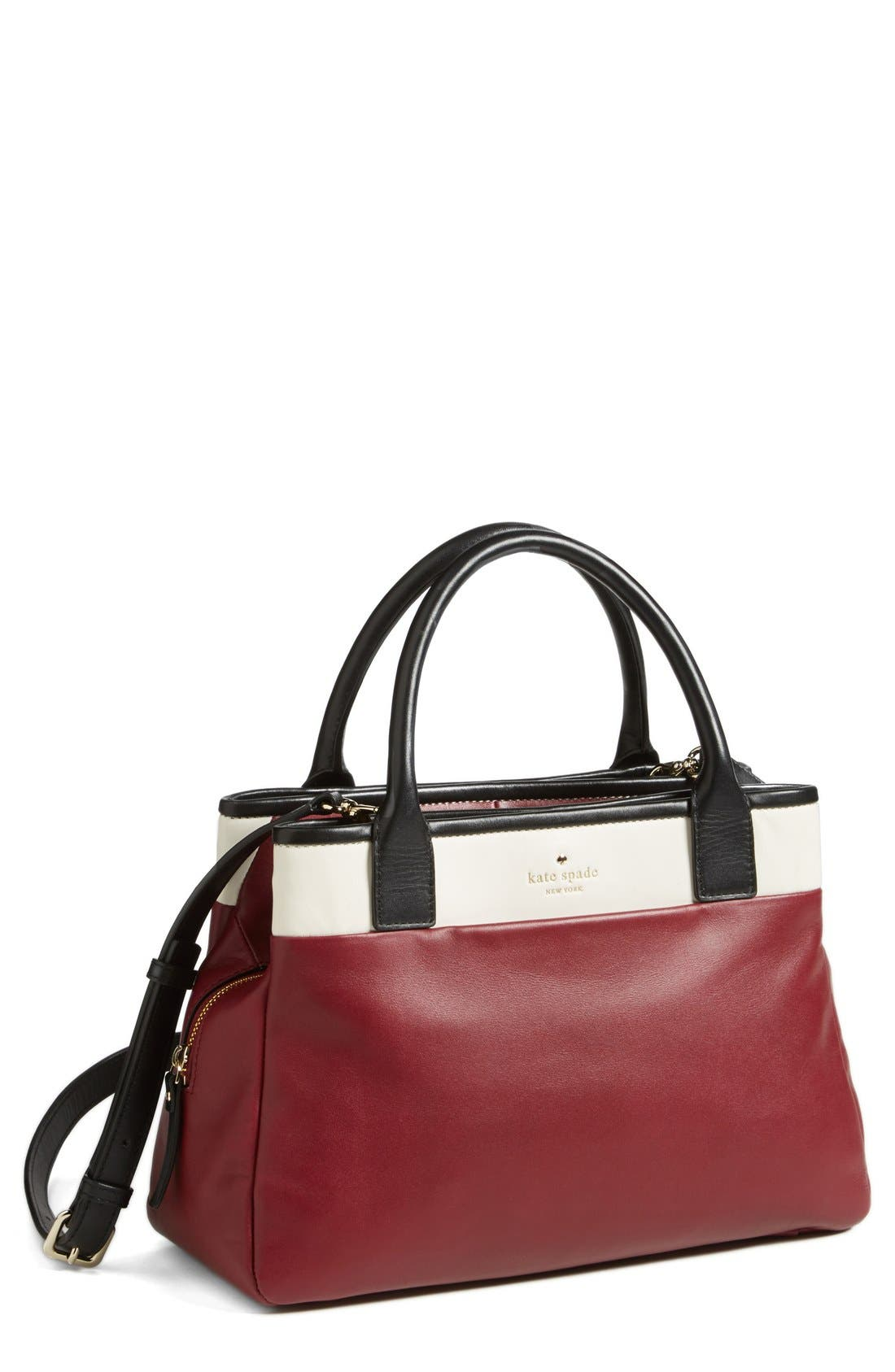 'branton square - mills' satchel,                             Main thumbnail 1, color,                             Braised Plum