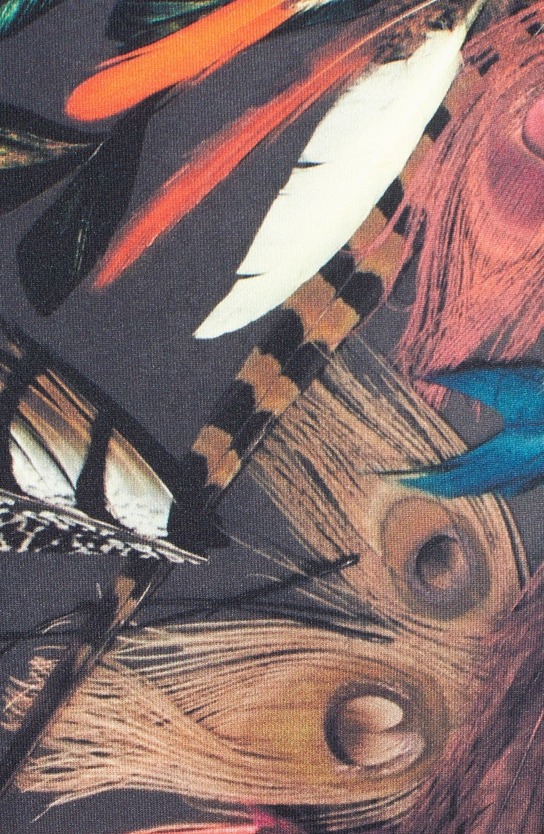 Alternate Image 4  - Nicole Miller 'Tail Feather' Print Neoprene Fit & Flare Dress