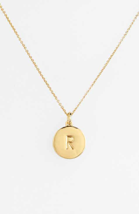 diamond letter necklaces necklace pave thoughts gold roberto pendant initial coin white