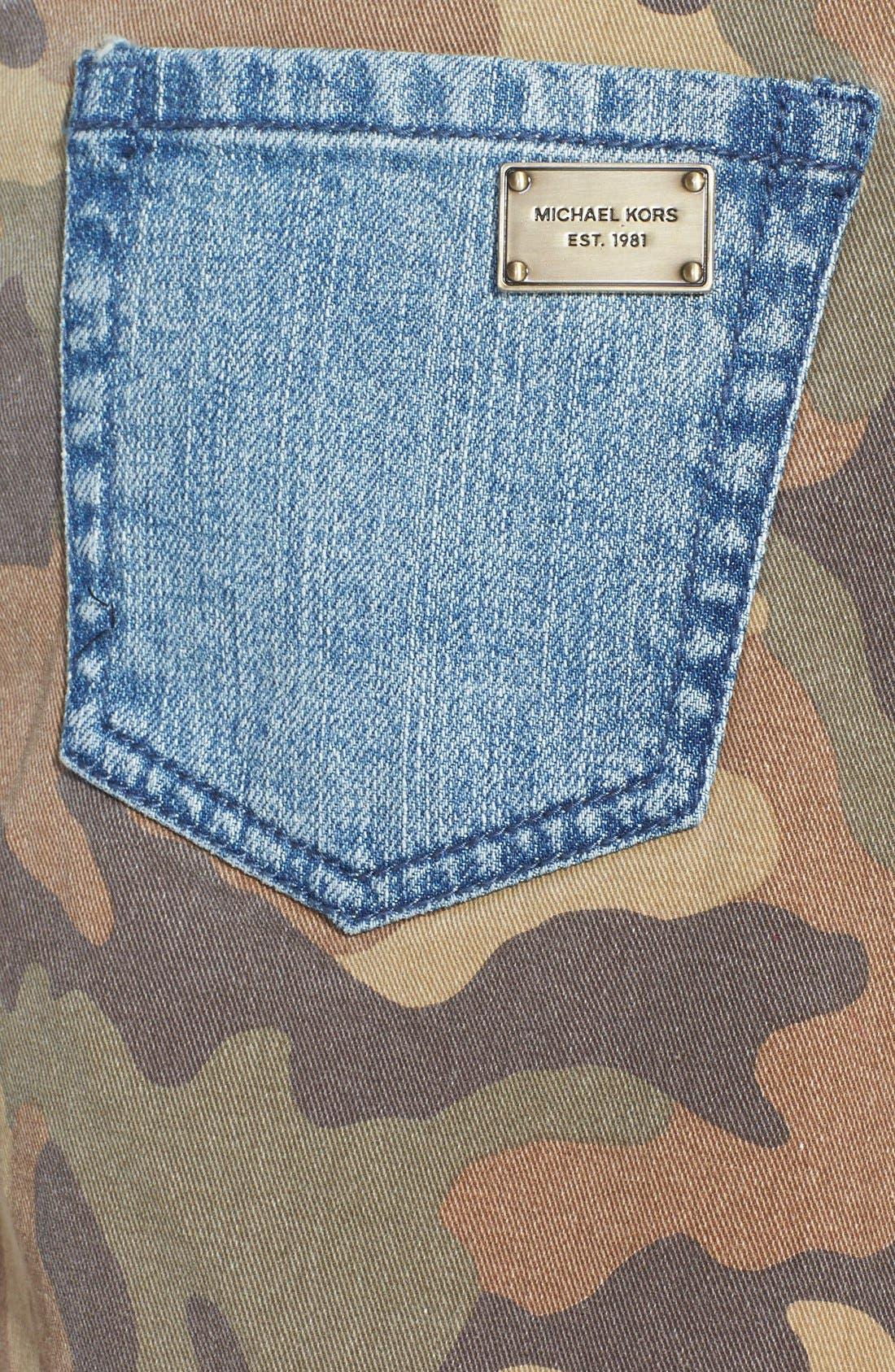Alternate Image 3  - MICHAEL Michael Kors Camo & Denim Miniskirt