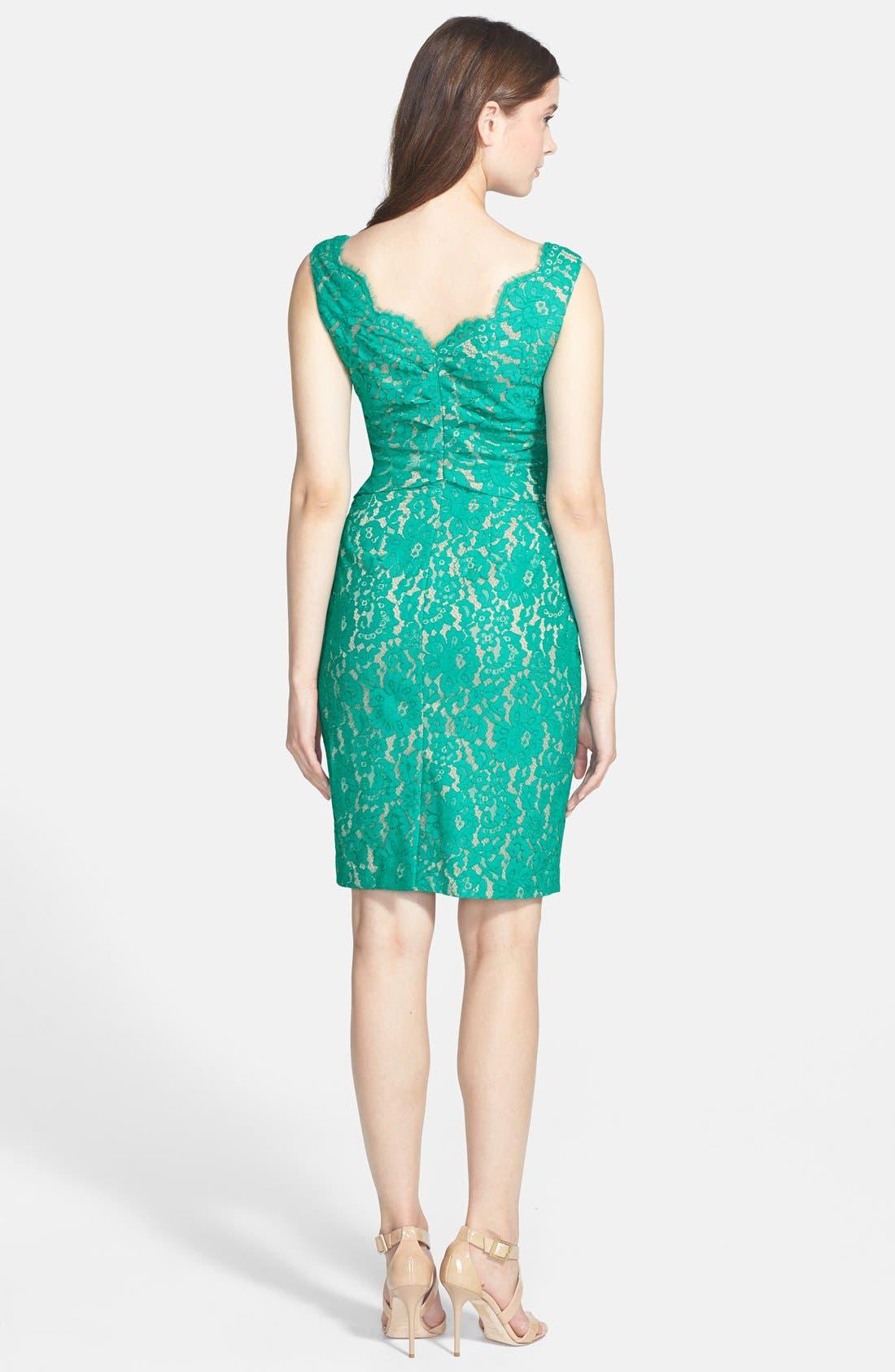 Alternate Image 2  - Eliza J Sleeveless Lace Dress