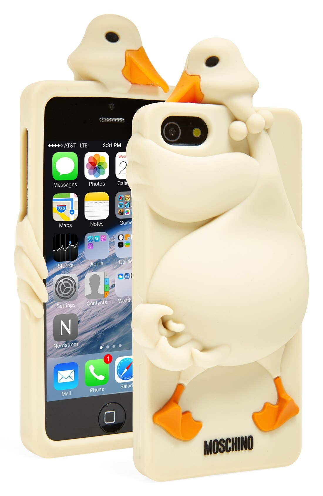 Alternate Image 1 Selected - Moschino 'Goose' 3D Rubber iPhone 5 Case