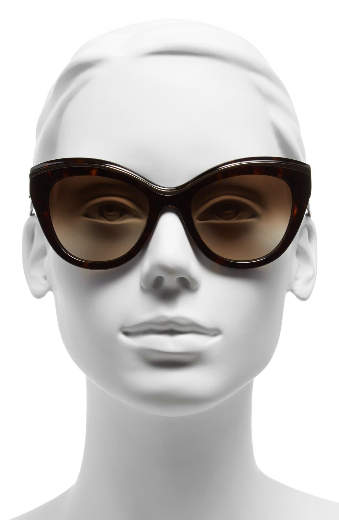 Alternate Image 2  - kate spade new york 54mm cat eye sunglasses