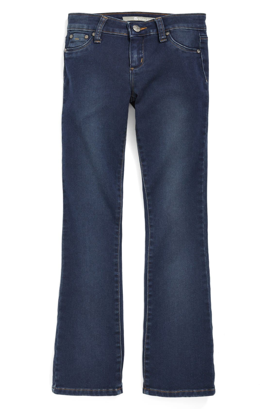 Alternate Image 1 Selected - Tractr Bootcut Stretch Denim Jeans (Big Girls)
