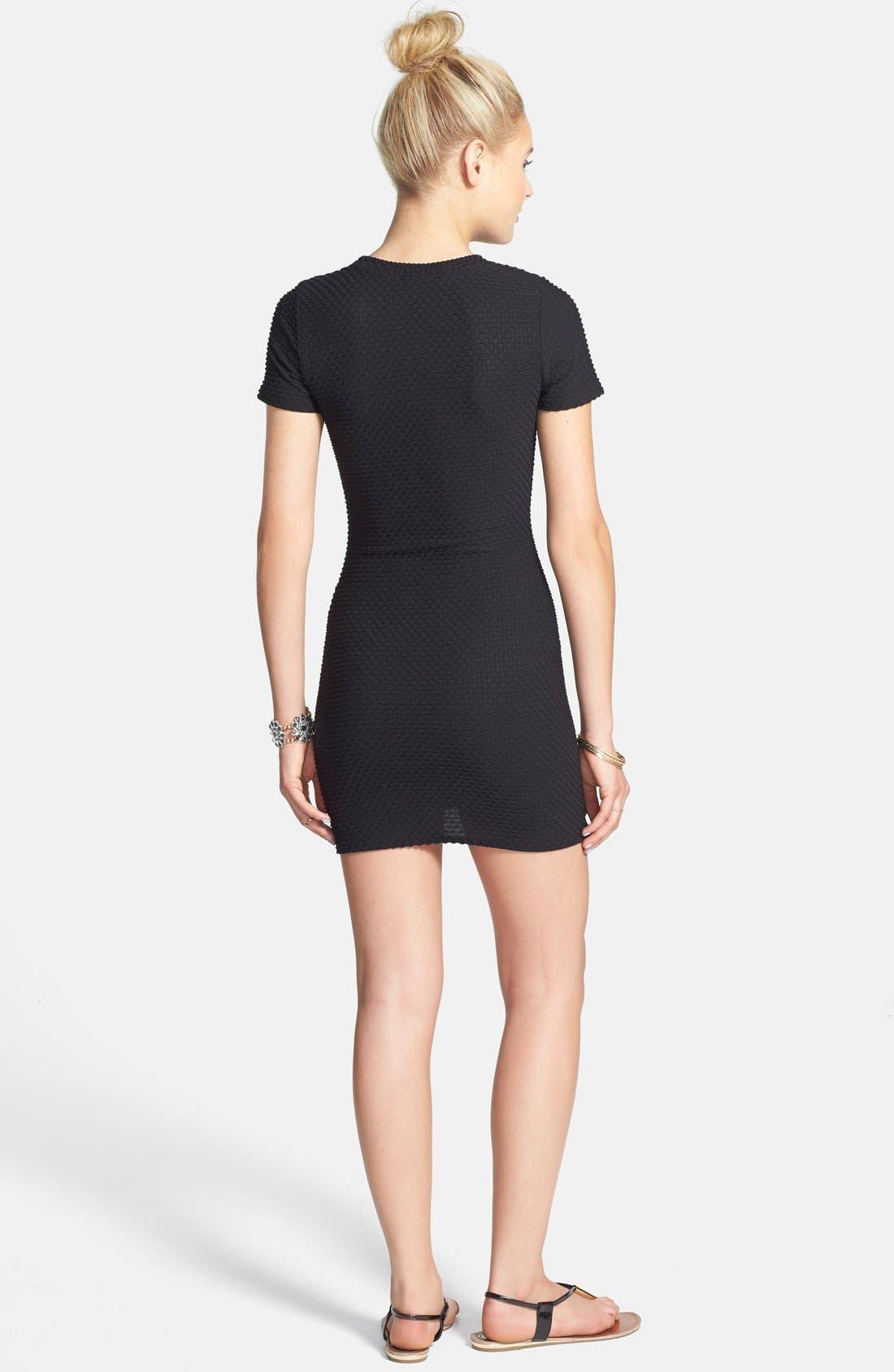 Alternate Image 2  - dee elle Textured Body-Con Dress (Juniors)