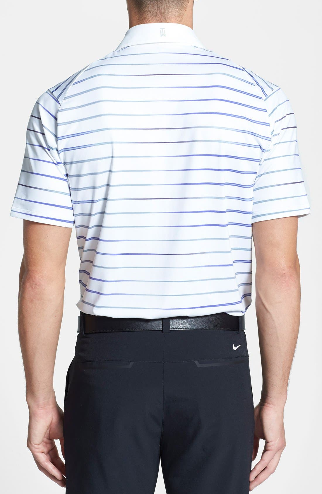 Alternate Image 2  - Nike 'TW Iridescent Stripe' Dri-FIT Polo