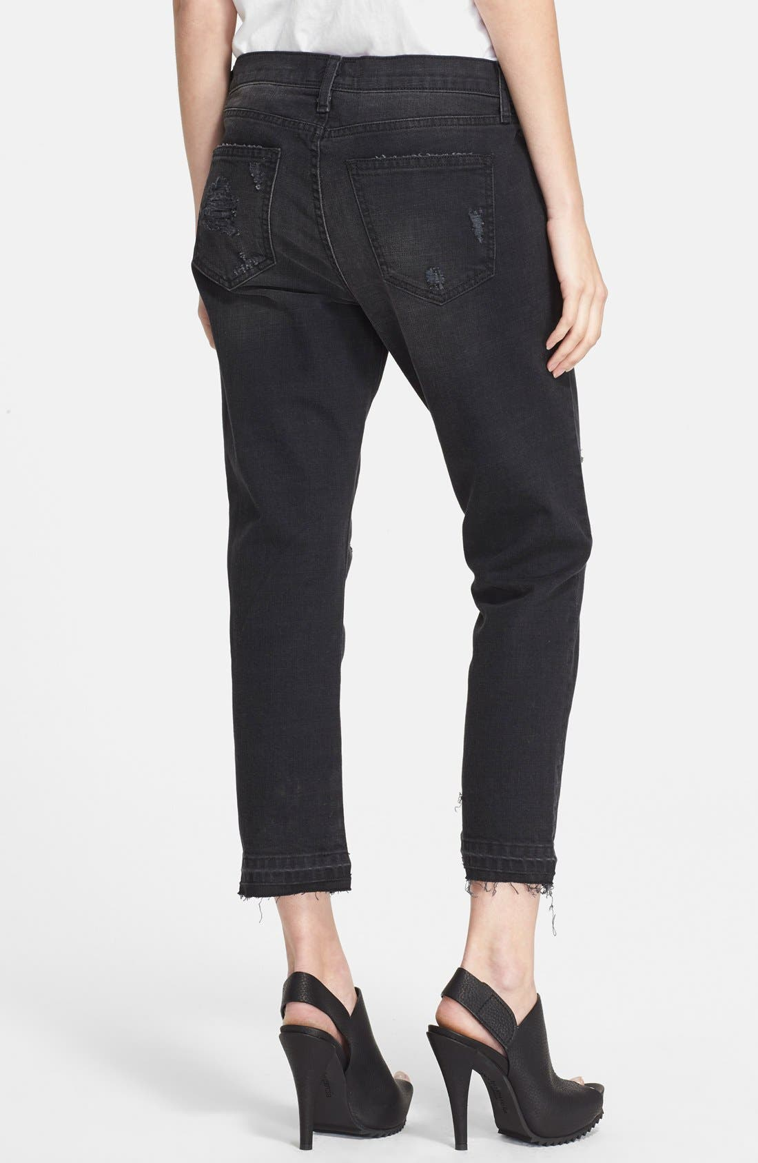 Alternate Image 2  - Current/Elliott 'The Cropped Straight' Destroyed Jeans (Townhouse Destroy) (Nordstrom Exclusive)