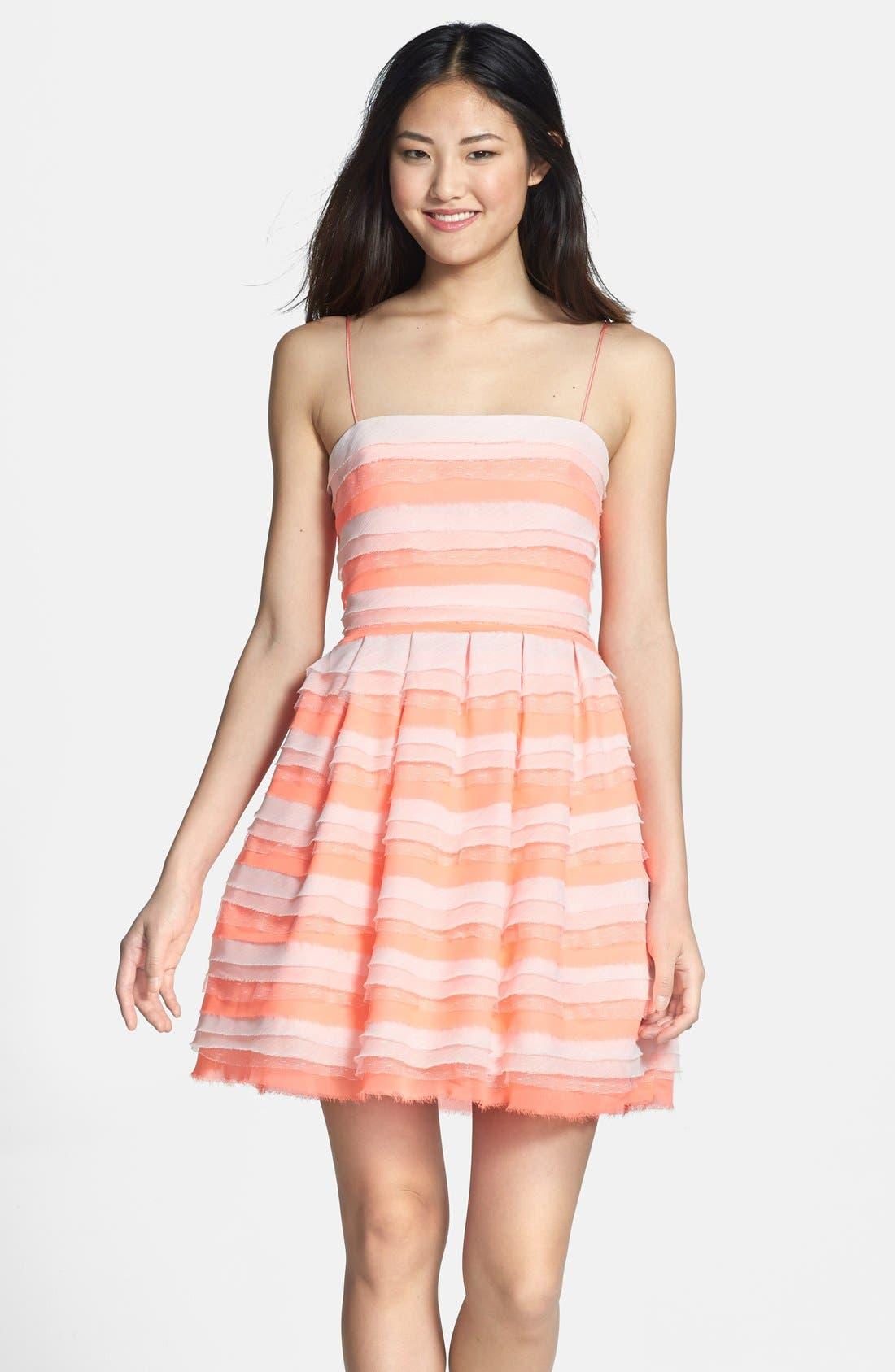 Alternate Image 1 Selected - ERIN erin fetherston 'Azalea' Tiered Chiffon Fit & Flare Dress