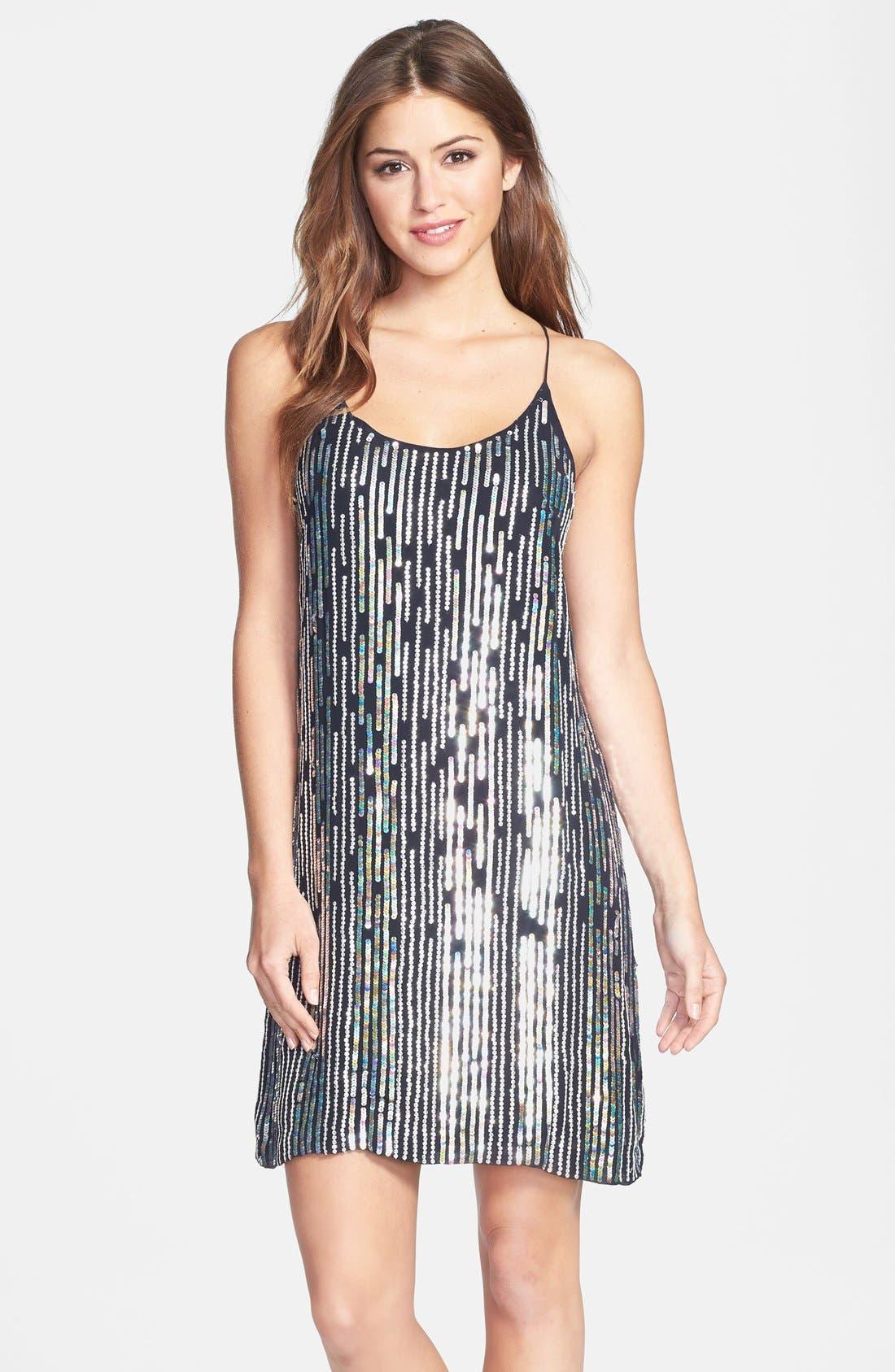 Alternate Image 1 Selected - Nicole Miller Sequin Slipdress