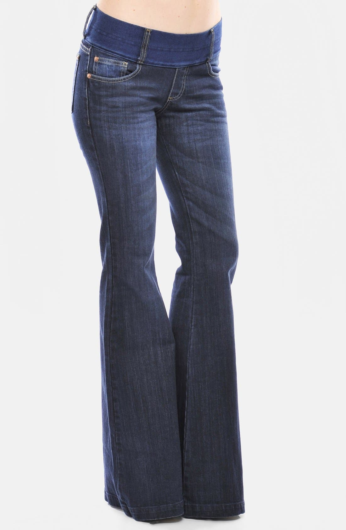 Alternate Image 3  - Olian Flare Maternity Jeans