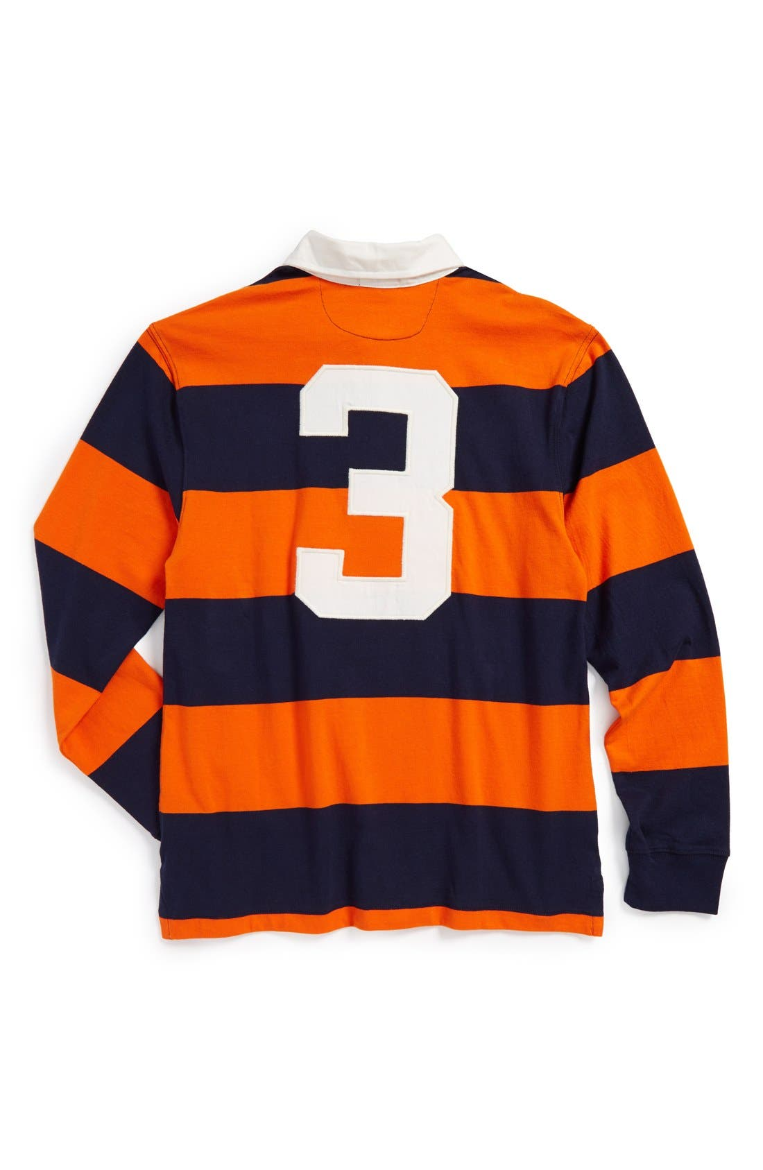 Alternate Image 2  - Ralph Lauren Rugby Stripe Long Sleeve Polo (Toddler Boys)