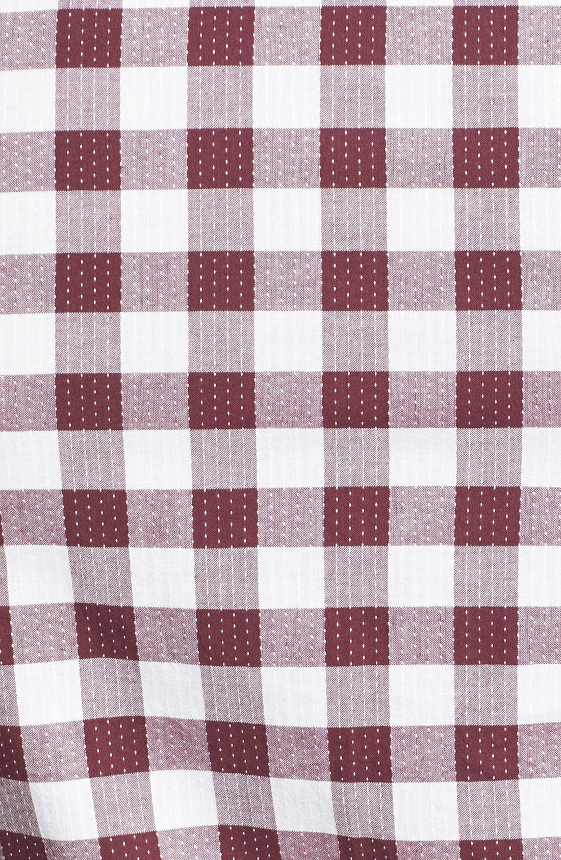 Alternate Image 3  - Topman Classic Fit Short Sleeve Check Shirt