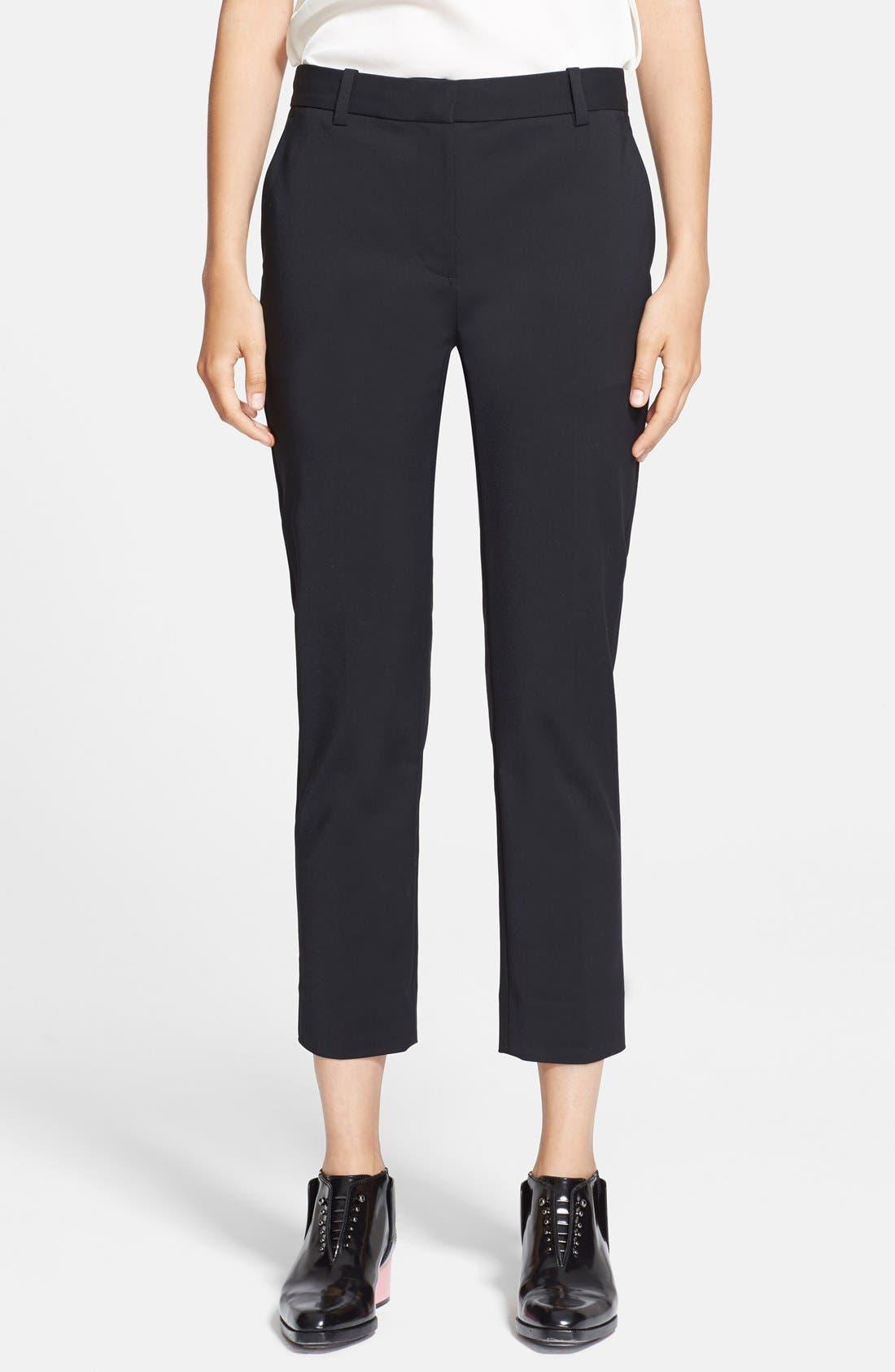 Crop Pencil Pants,                         Main,                         color, Black