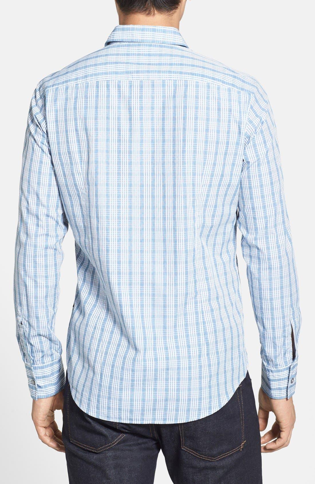 Alternate Image 3  - BOSS HUGO BOSS 'Ronny' Slim Fit Plaid Sport Shirt
