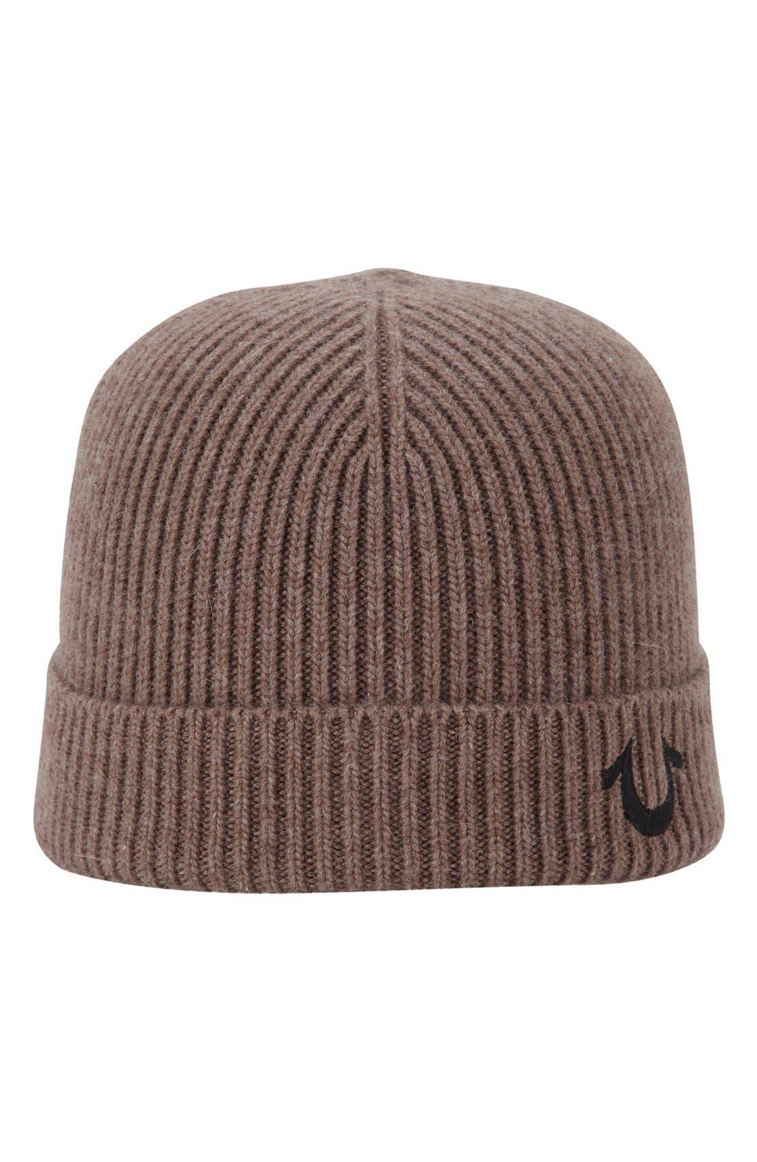 True Religion Brand Jeans Rib Knit Cap
