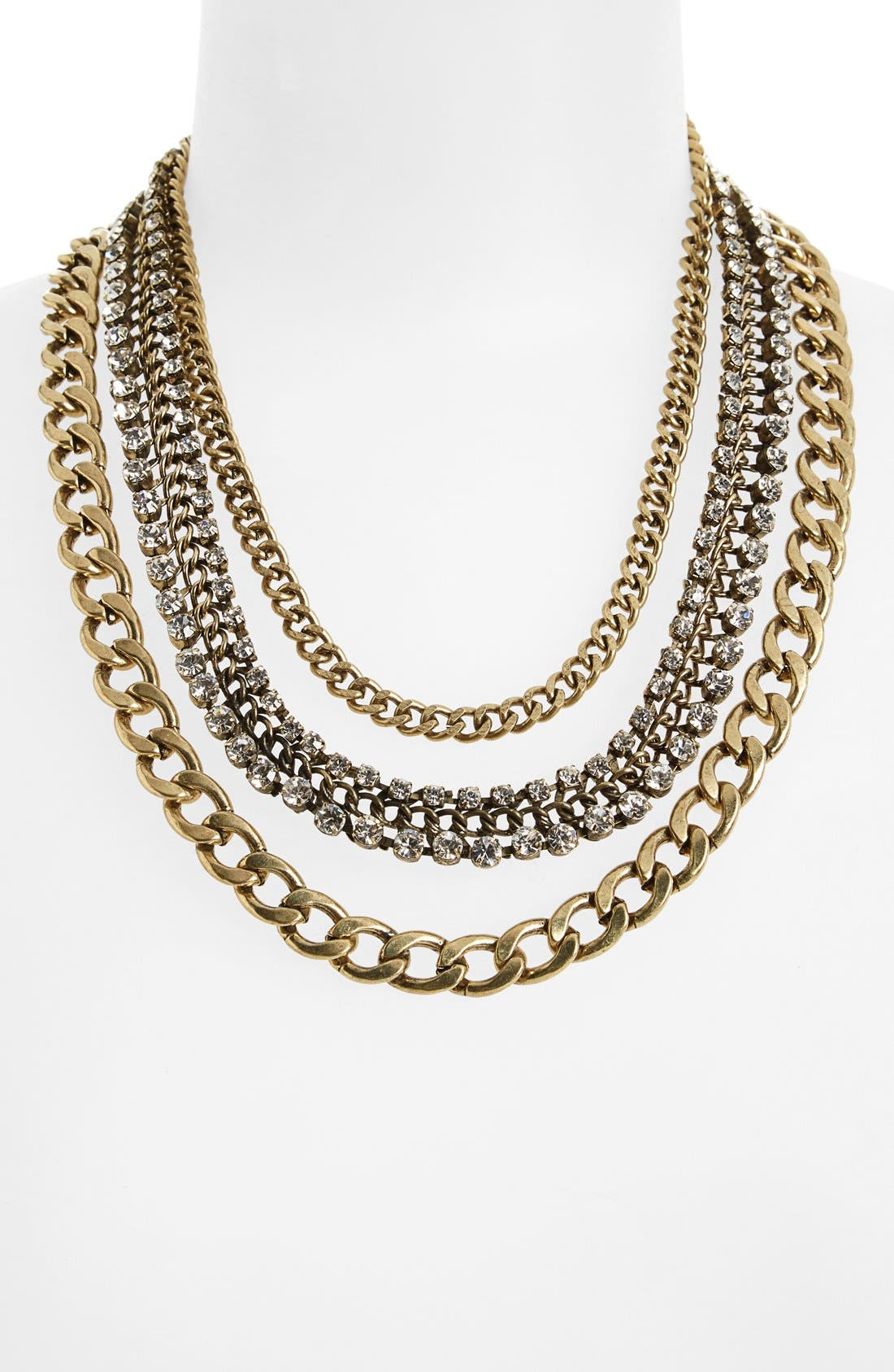 Alternate Image 2  - Natasha Couture Crystal Multi Chain Necklace