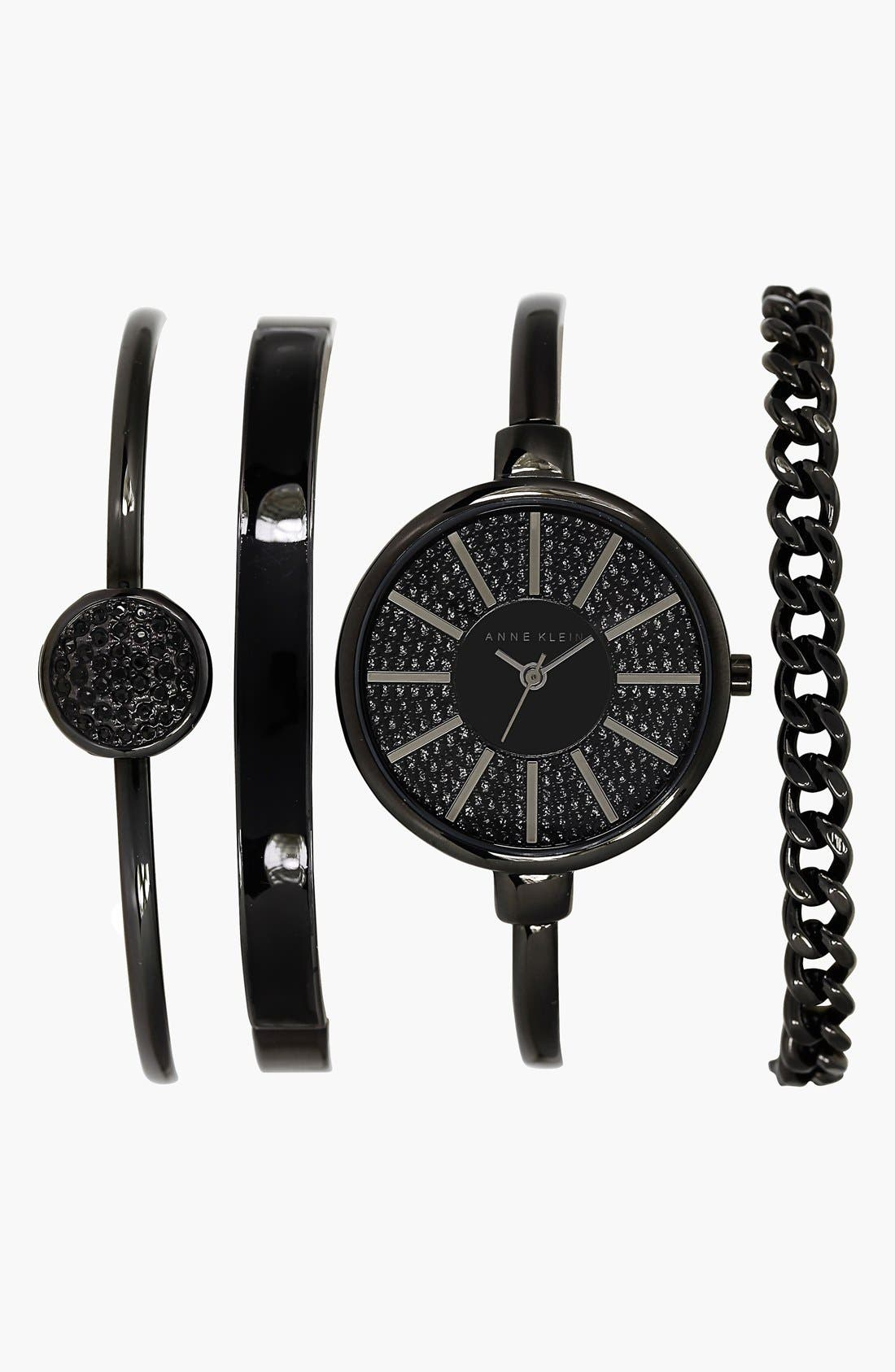 Alternate Image 1 Selected - Anne Klein Boxed Bracelet & Bangle Watch Set, 32mm