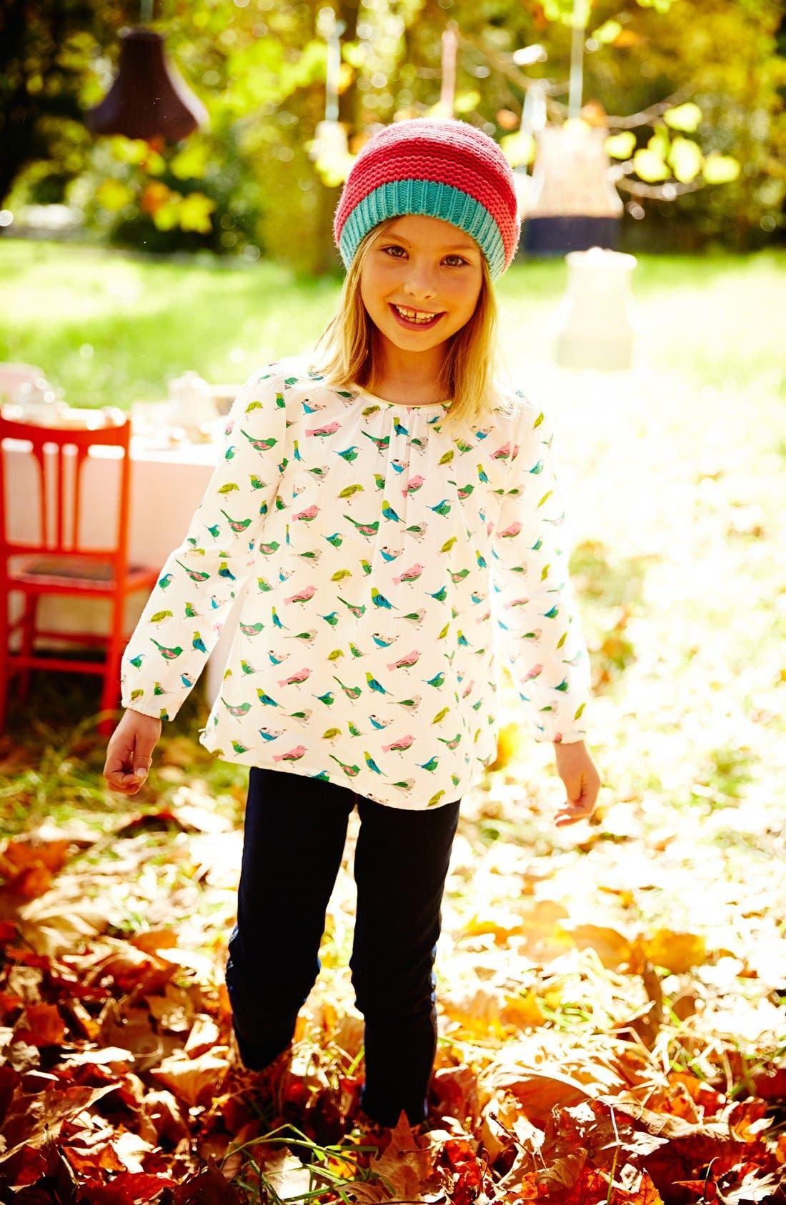 Alternate Image 2  - Mini Boden Pretty Print Top (Toddler Girls, Little Girls & Big Girls)